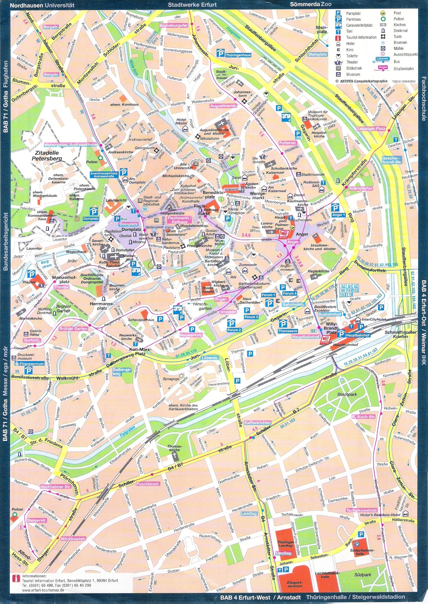 Guide To Bach Tour: Erfurt - Maps pertaining to Erfurt Germany Map