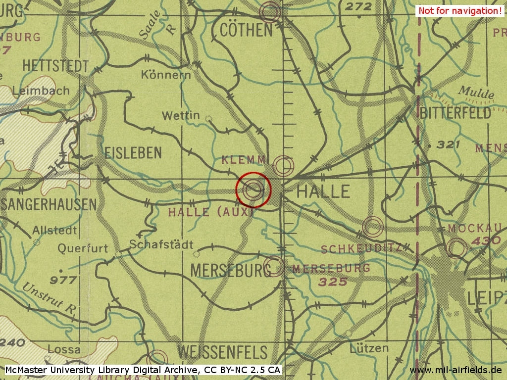 Halle-Nietleben Airfield, Germany - Military Airfield Directory intended for Halle In Germany Map