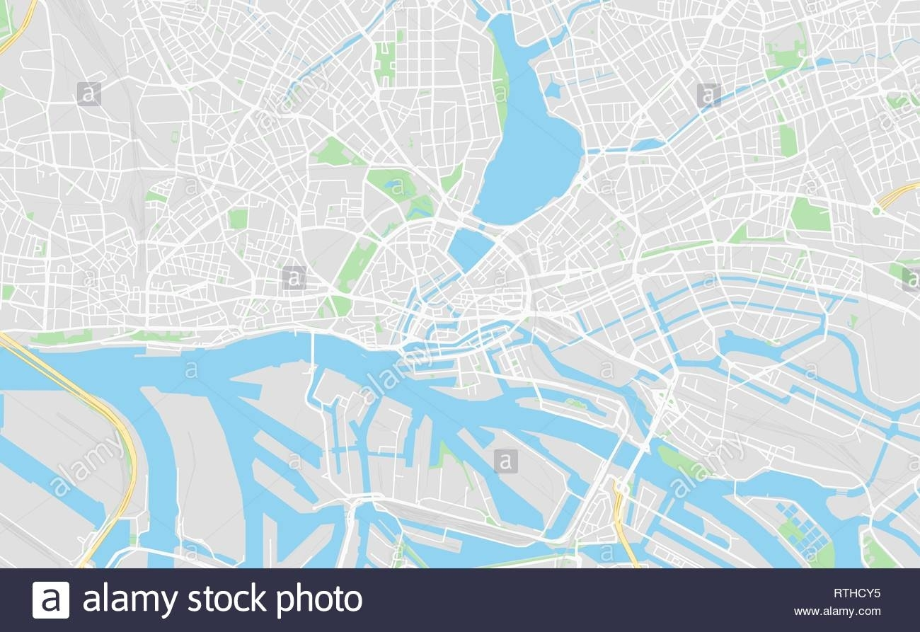 Hamburg, Germany Printable Street Map In Classic Style Colors With with regard to Hamburg Germany Street Map