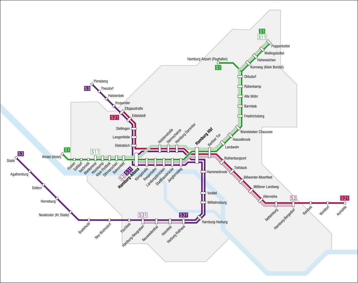 Hamburg S-Bahn — Map, Lines, Route, Hours, Tickets pertaining to Hamburg Germany S Bahn Map
