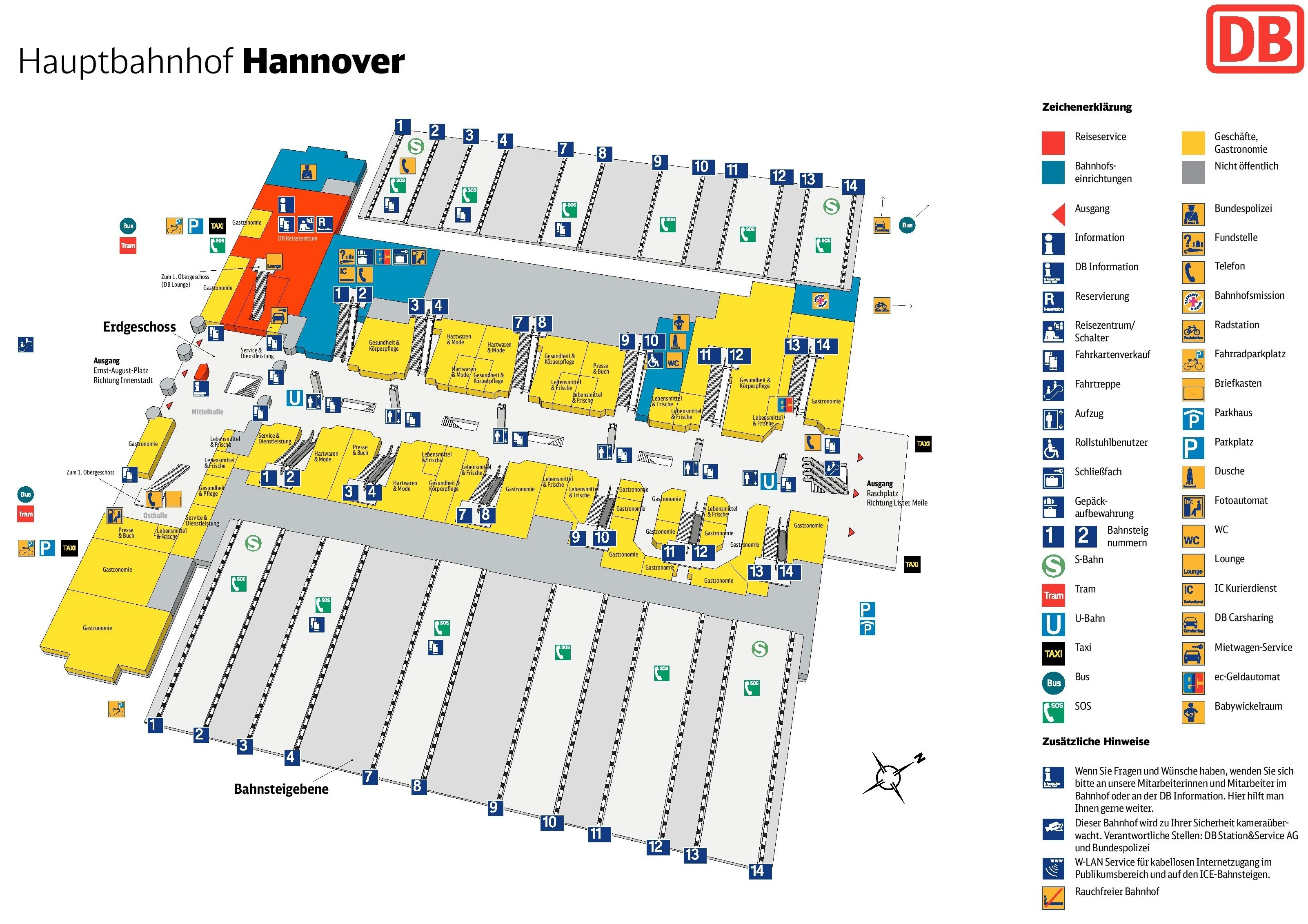 Hannover Hauptbahnhof Map (Central Train Station) with regard to Heidelberg Germany Train Station Map