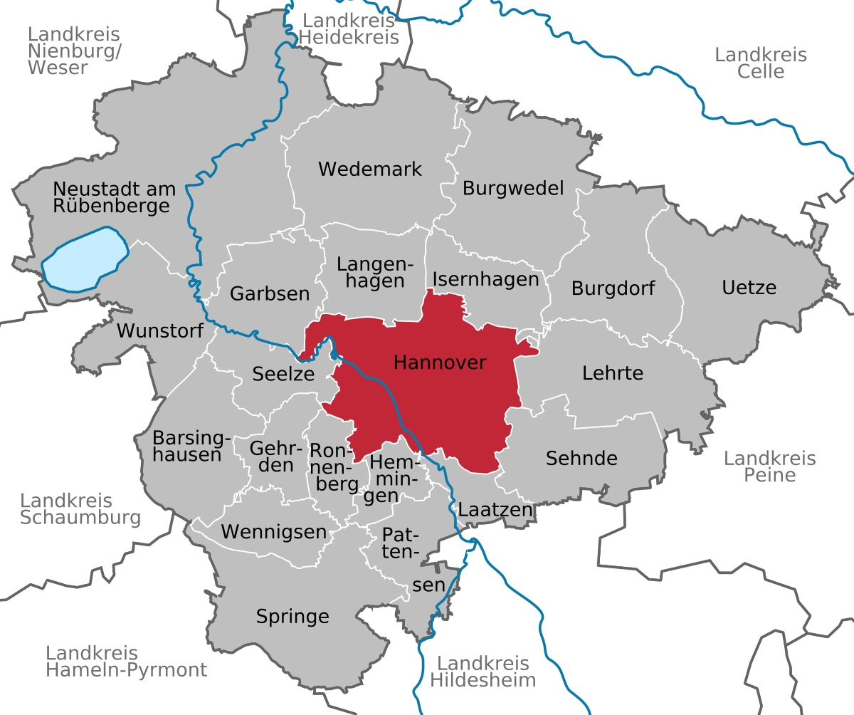 Hanover - Wikipedia with Hannover Germany Map