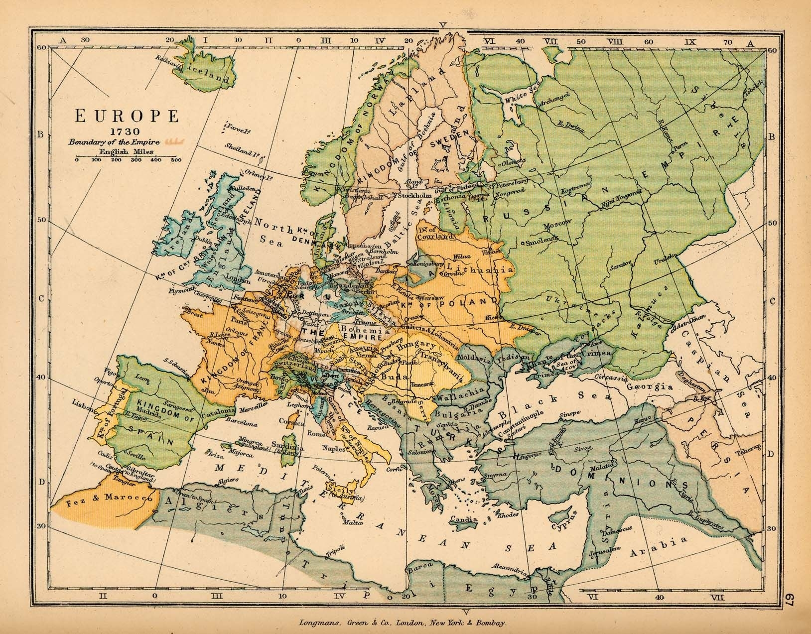 Historical Map Of Europe In 1730 | Germany | Historical Maps, Map intended for Old World Map Of Germany