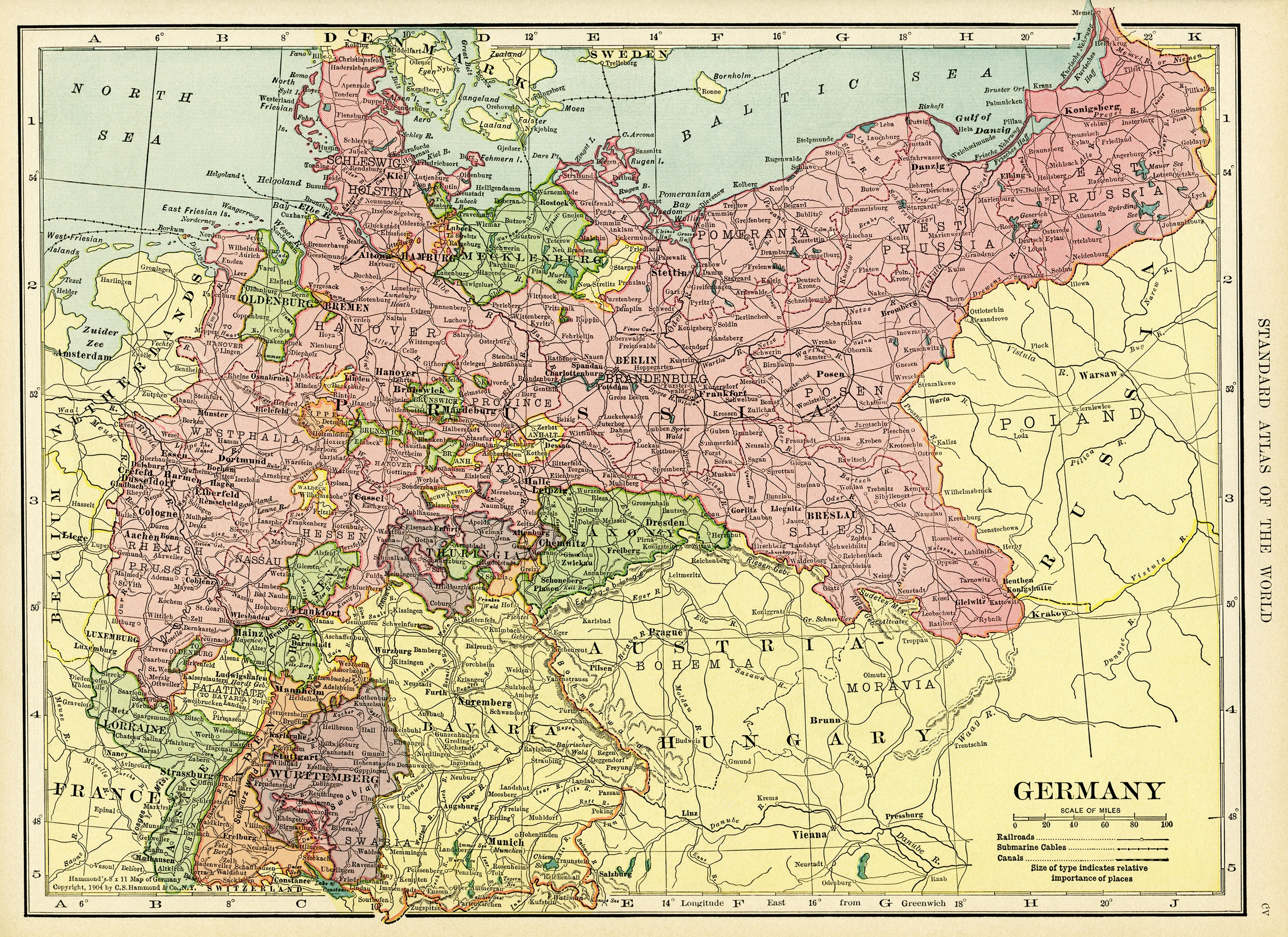 Historical Map Of Germany ~ Free Vintage Image - Old Design Shop Blog with Maps Of Germany Throughout History