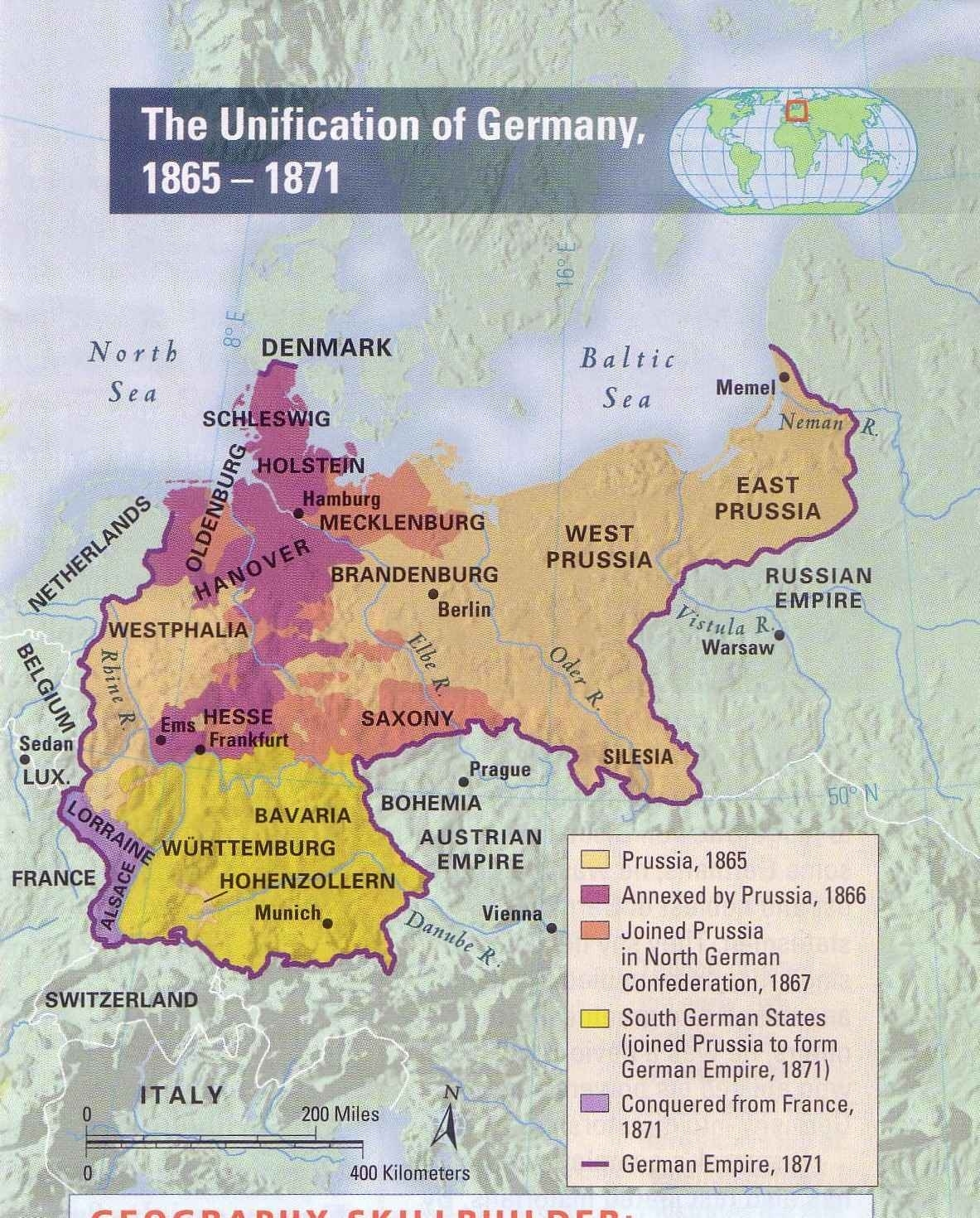 History Of The Unification Of Germany with Map Of Germany Before Unification