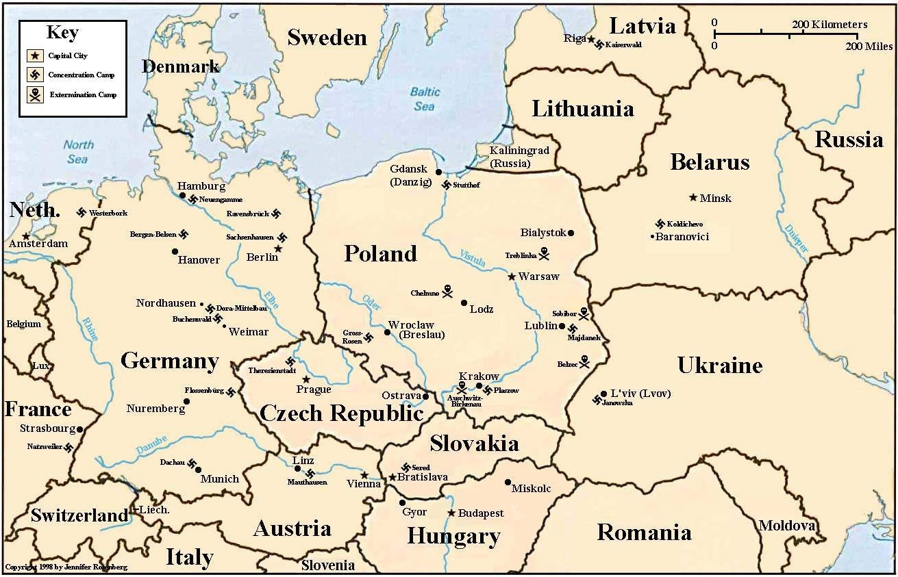 Holocaust Map Of Concentration And Death Camps throughout Germany Concentration Camps To Visit Map