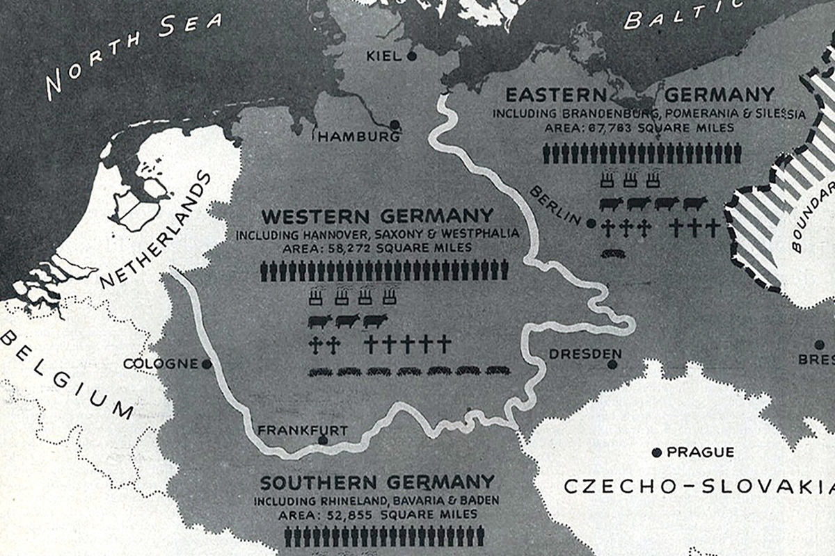 How Germany Was Divided: A History Of Partition Plans – Atlantic regarding Map Of Germany Divided After Ww2