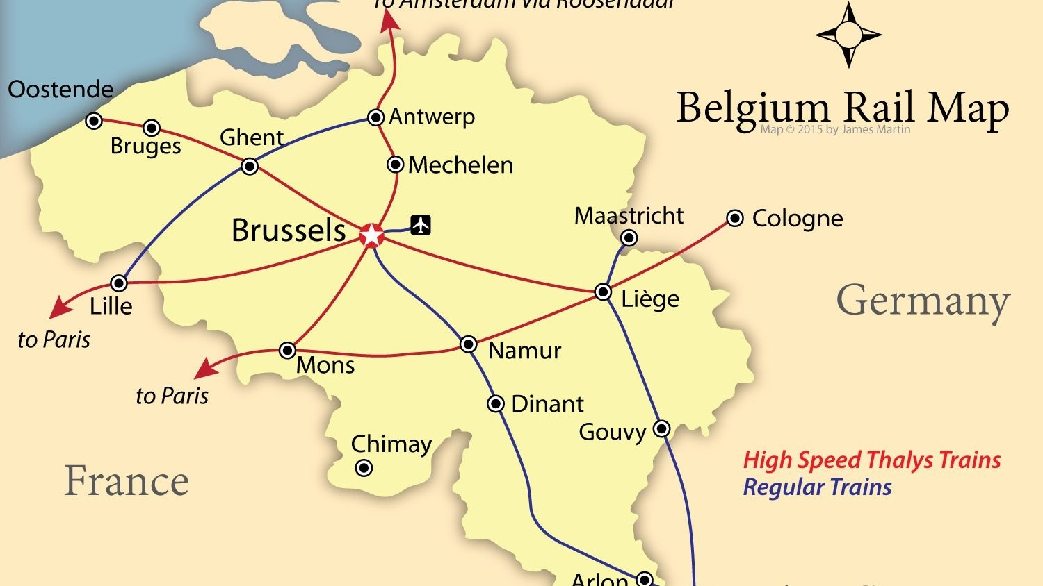 How To Get Around Belgium Like A Local in Map Of France Belgium And Germany
