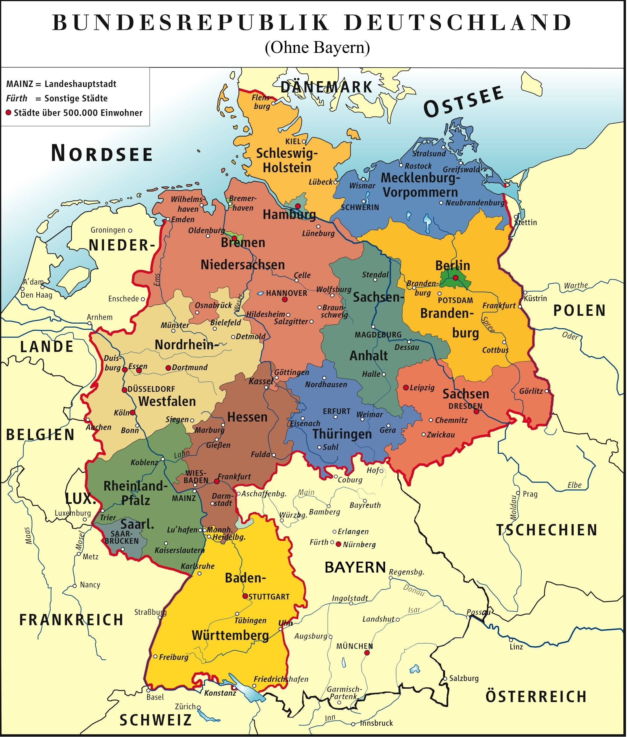 I Made A Map Of Germany Without The State Bavaria Because Their for Friedrichshafen Germany Map