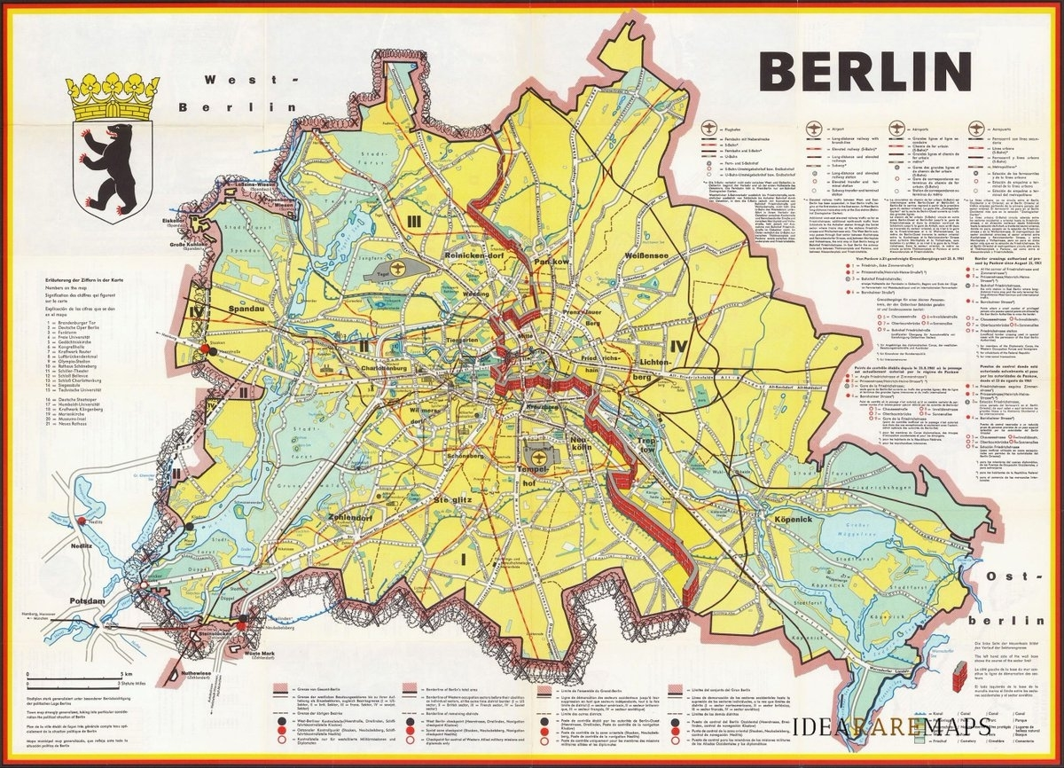 """Idea Rare Maps On Twitter: """"a 1962 #map Of #berlin Published Shortly for Germany Map Before 1989"""