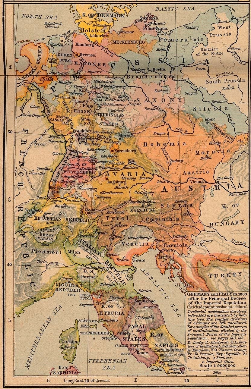 Italy And Germany Map, 1803 | Maps | Map, Old World Maps, Historical intended for World Map Italy And Germany