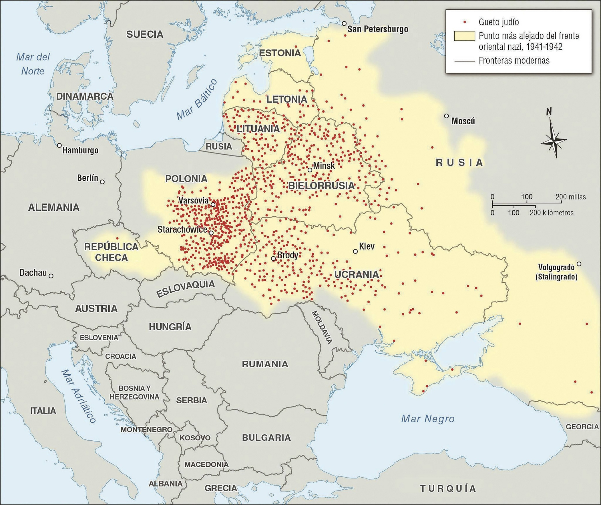 Jewish Ghettos In Eastern Europe | Facing History And Ourselves for Map Of Germany With Concentration Camps