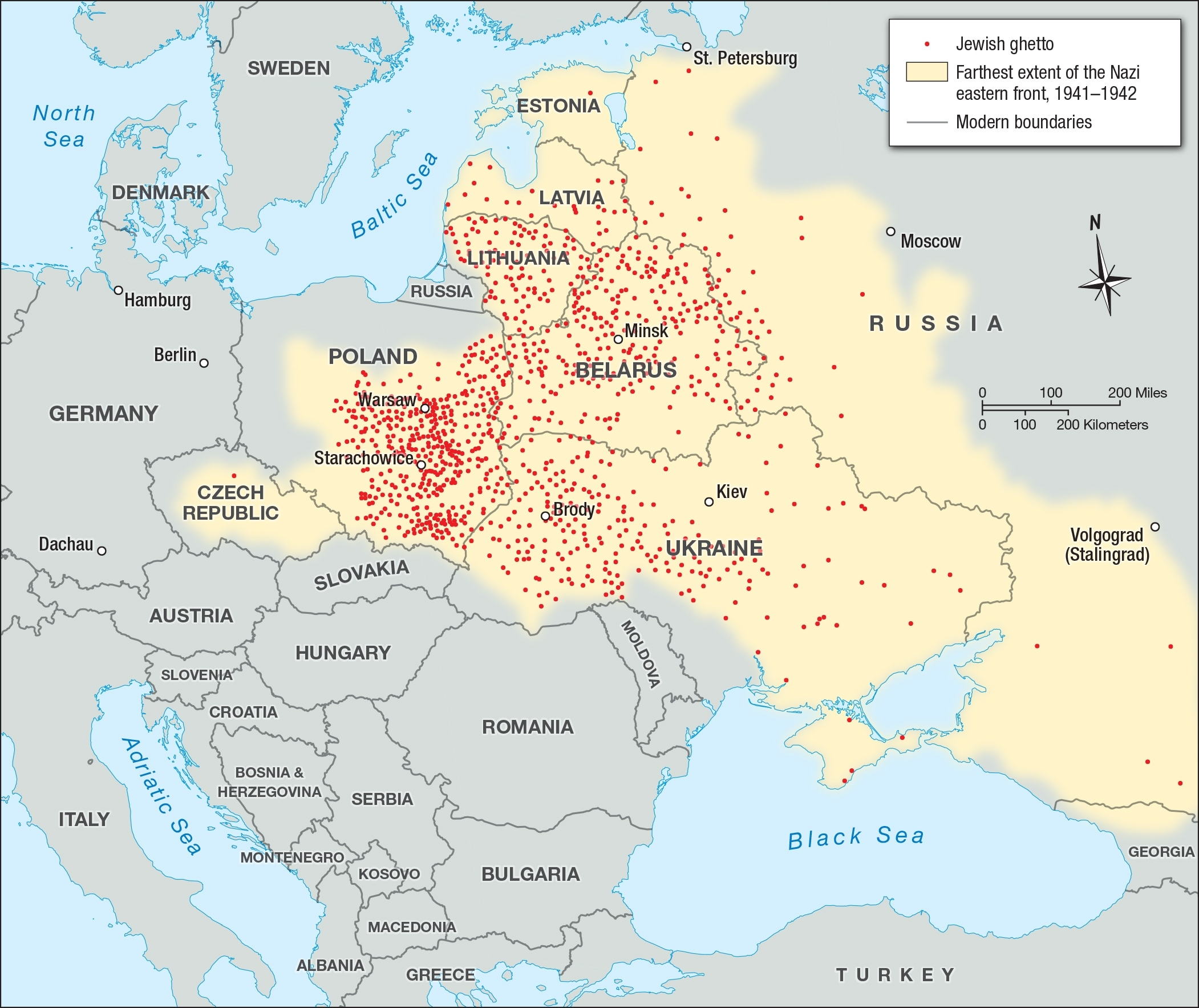 Jewish Ghettos In Eastern Europe   Facing History And Ourselves in Map Concentration Camps In Germany