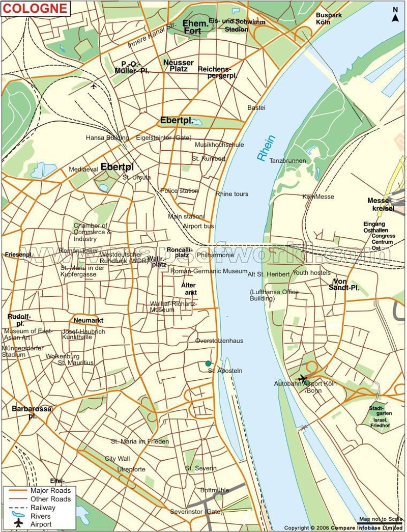 Koln Map in Street Map Cologne Germany