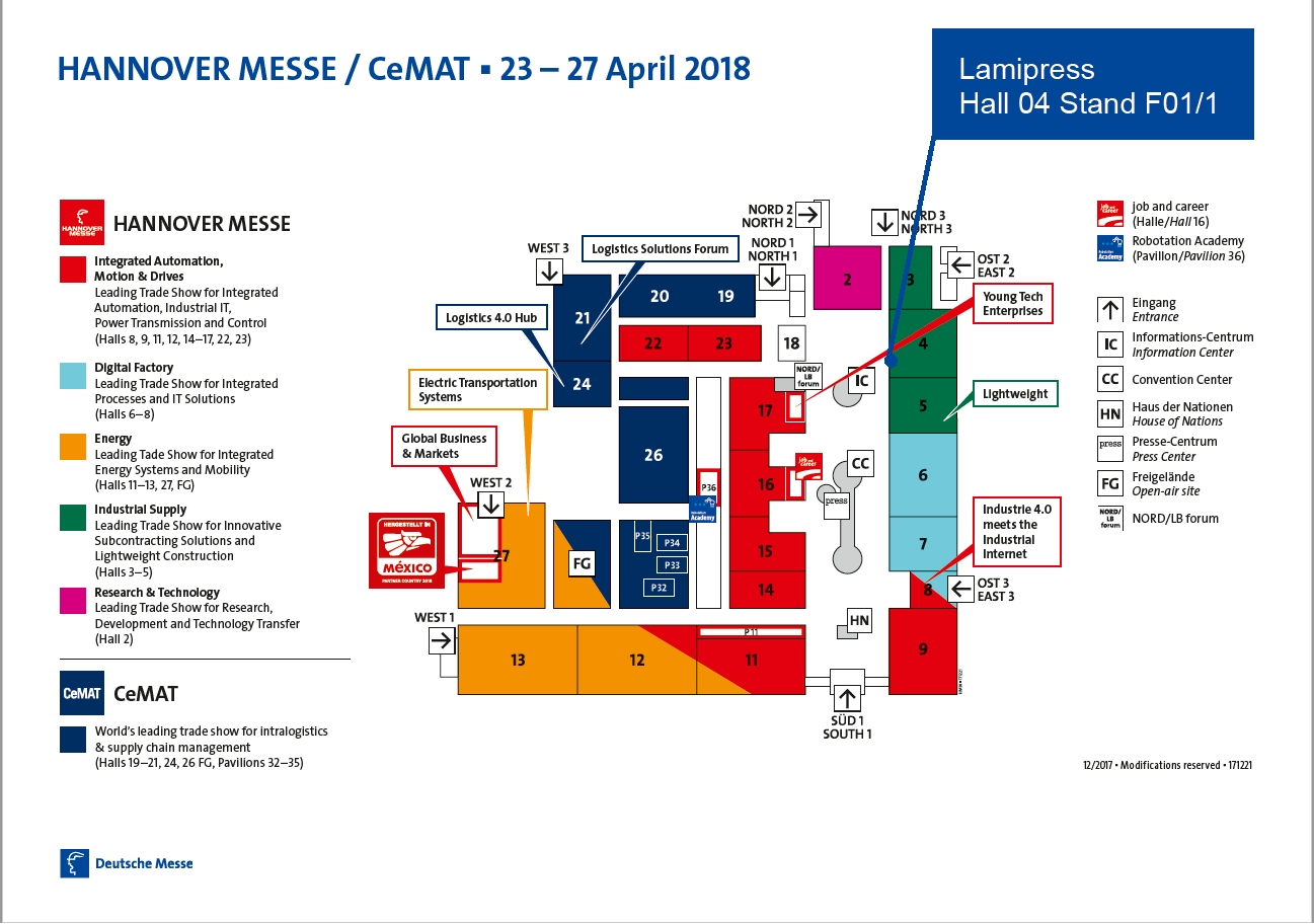 Lamipress At The Hannover Messe 2018 for Hannover Messe Map Germany