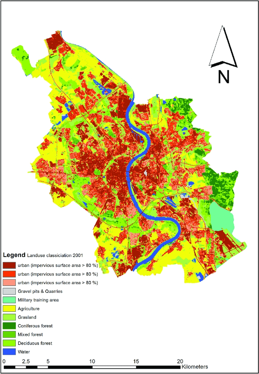 Land Use And Land Cover Map Of Cologne. Source: Centre For Remote with regard to Germany Land Use Map