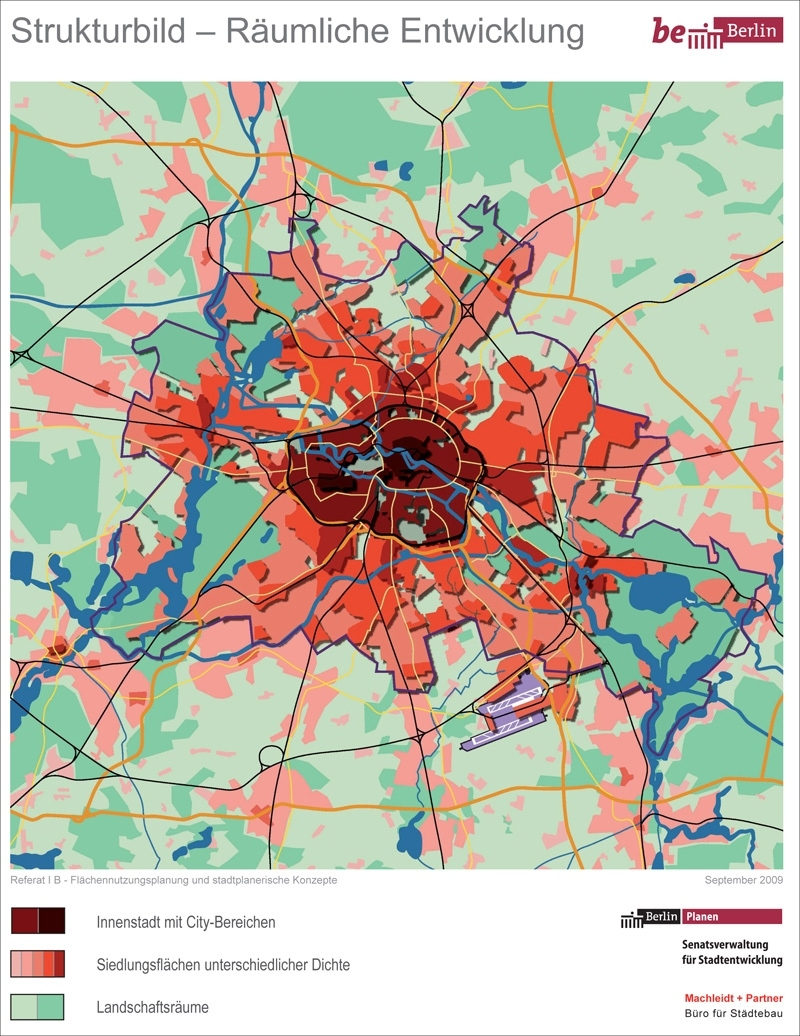 Land Use Planning Berlin / State Of Berlin pertaining to Germany Land Use Map