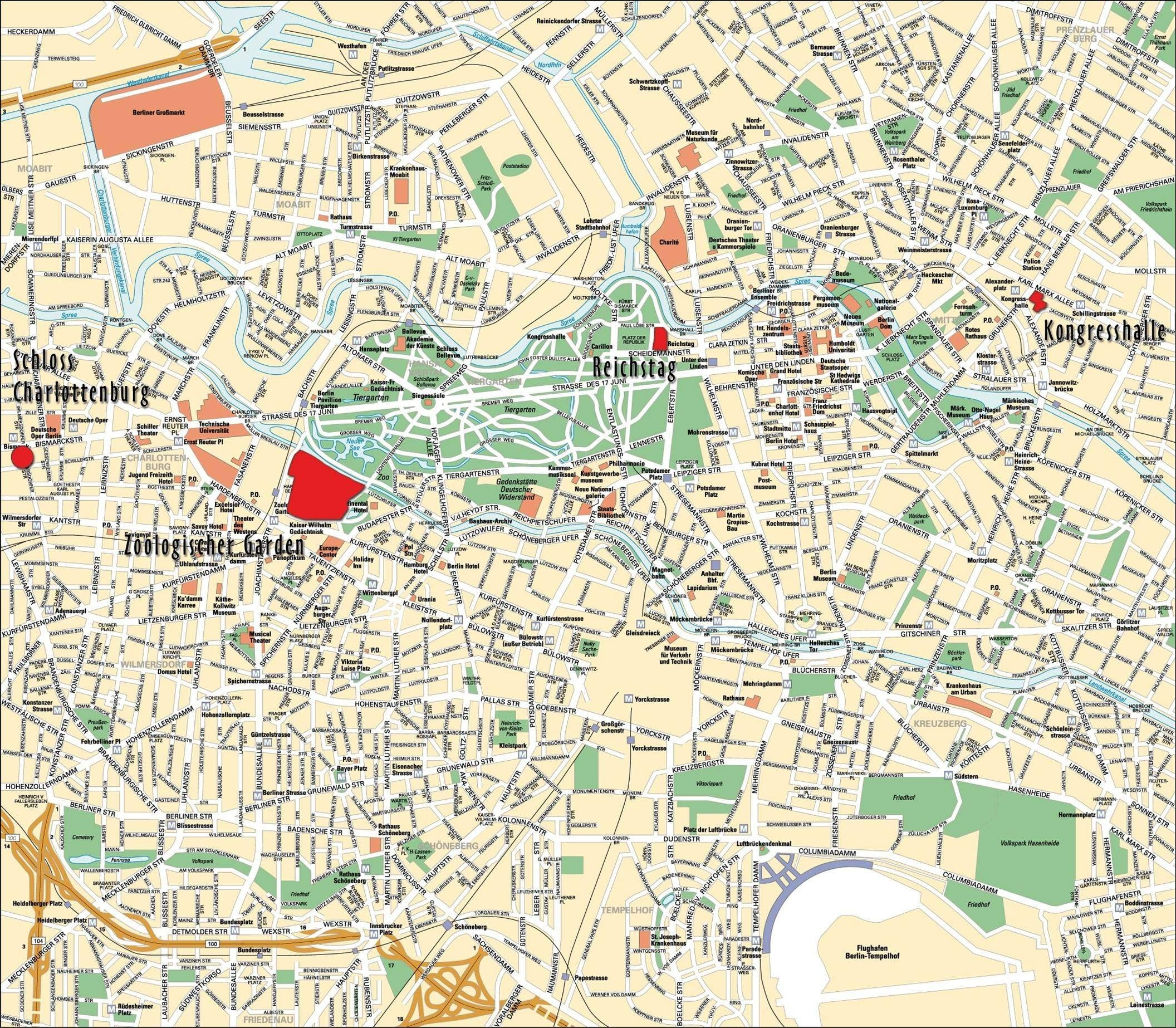 Large Berlin Maps For Free Download And Print | High-Resolution And for Karte Von Berlin