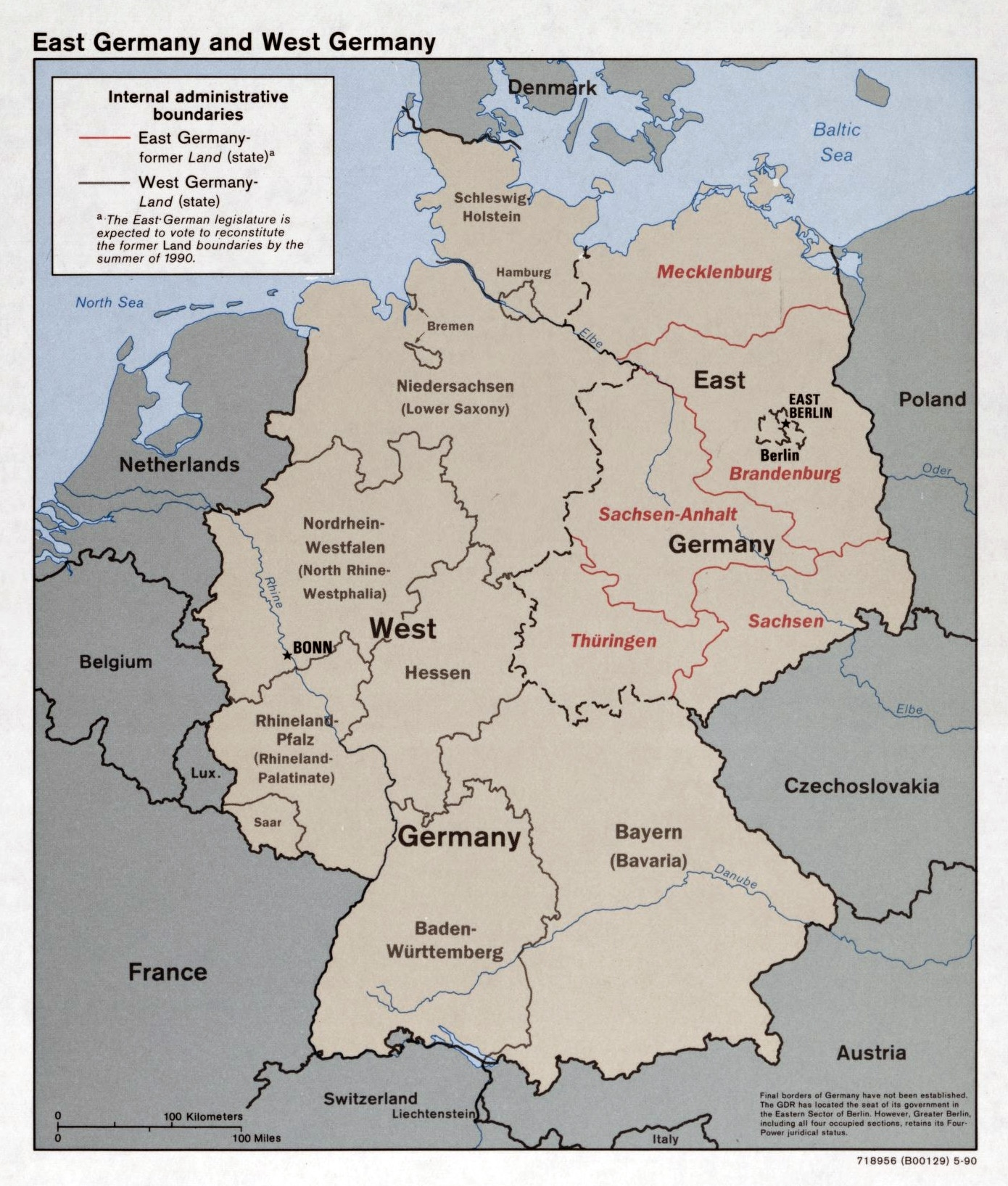 Large Detailed Political And Administrative Map Of East Germany And intended for East Germany Map