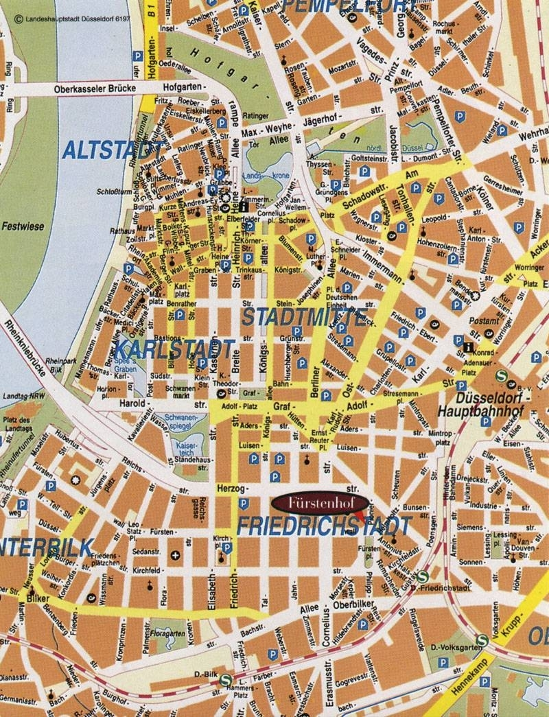 Large Dusseldorf Maps For Free Download And Print   High-Resolution for Dusseldorf Germany Map