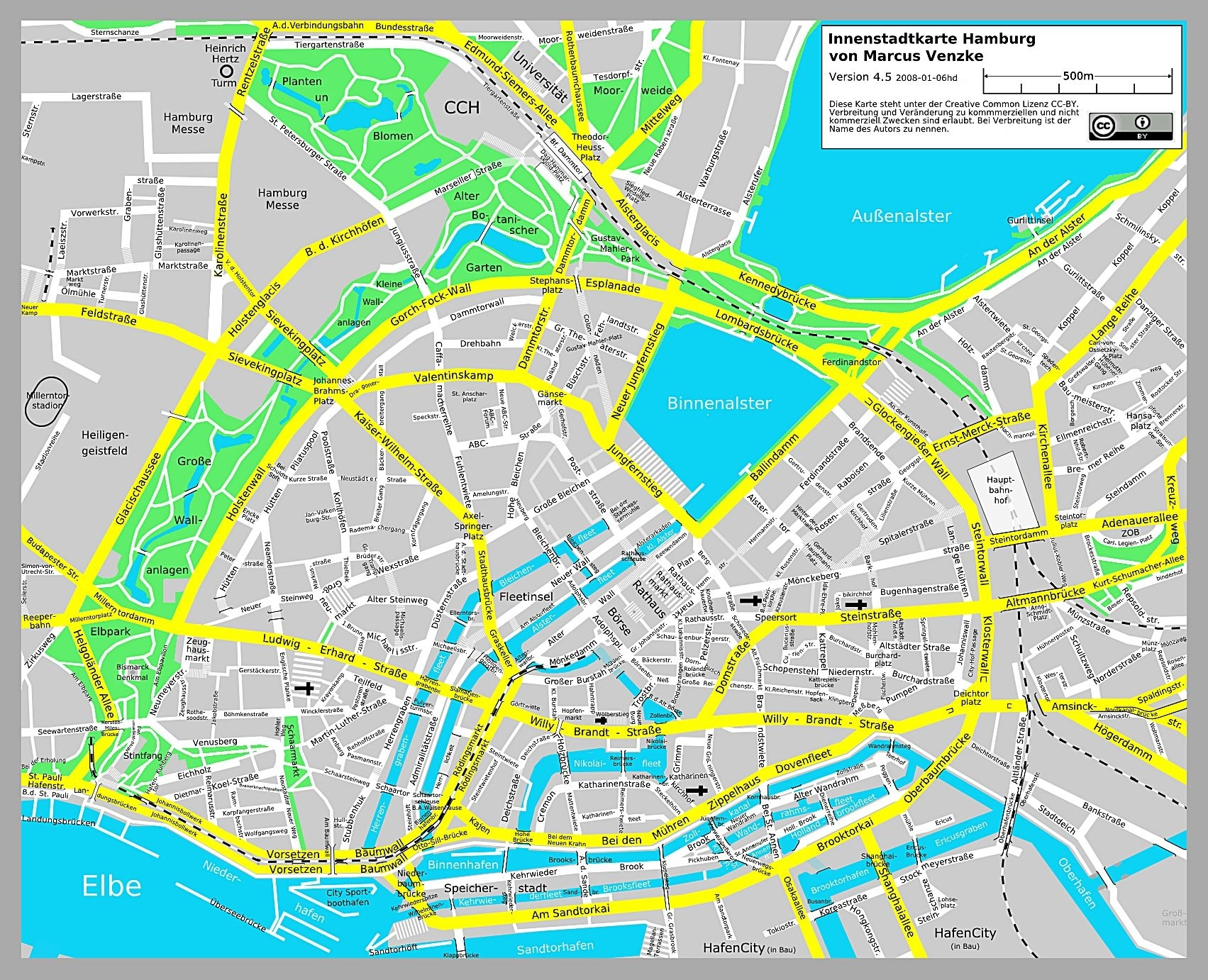 Large Hamburg Maps For Free Download And Print   High-Resolution And inside Hamburg Germany Street Map
