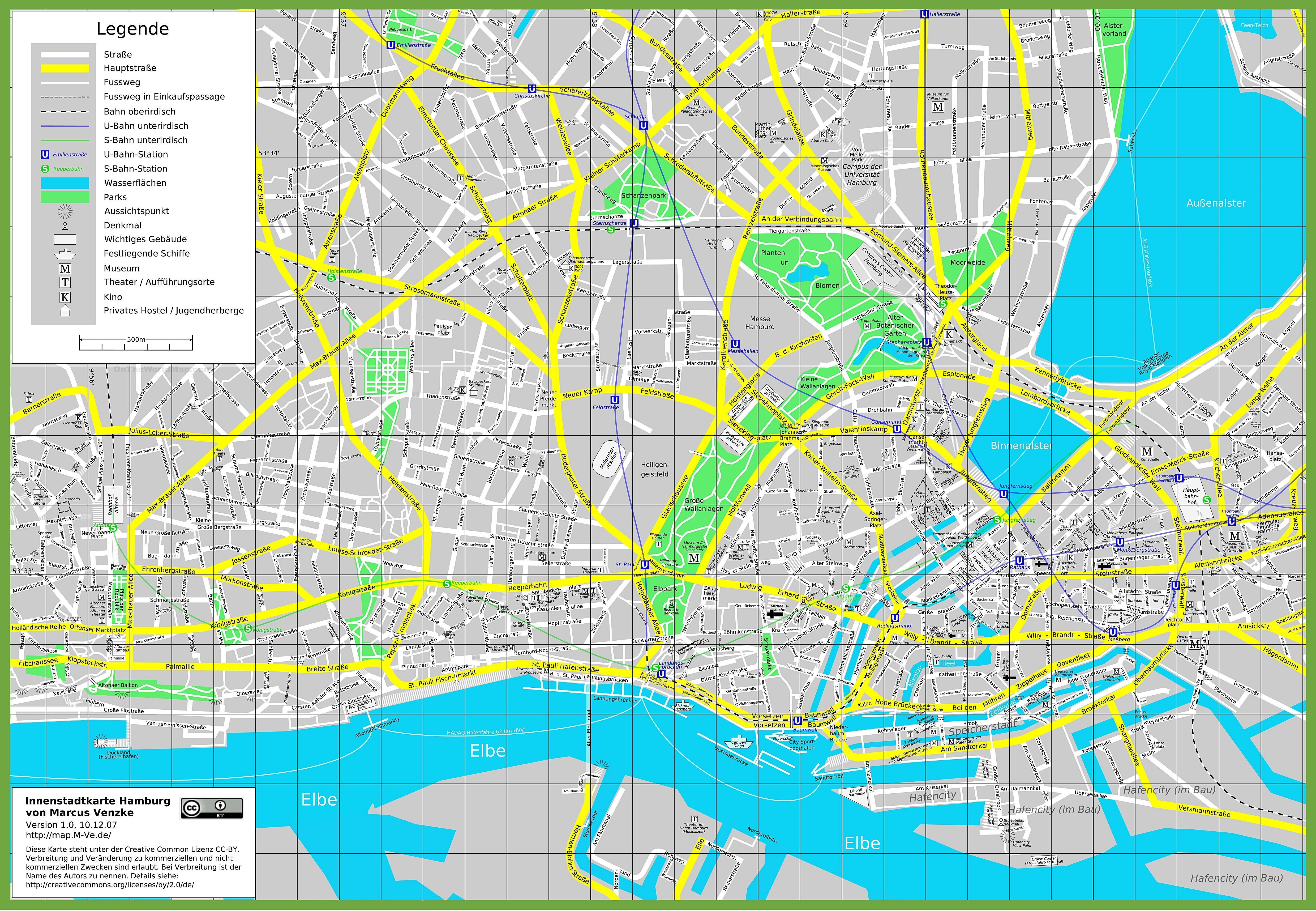 Large Hamburg Maps For Free Download And Print   High-Resolution And regarding Hamburg Germany Street Map