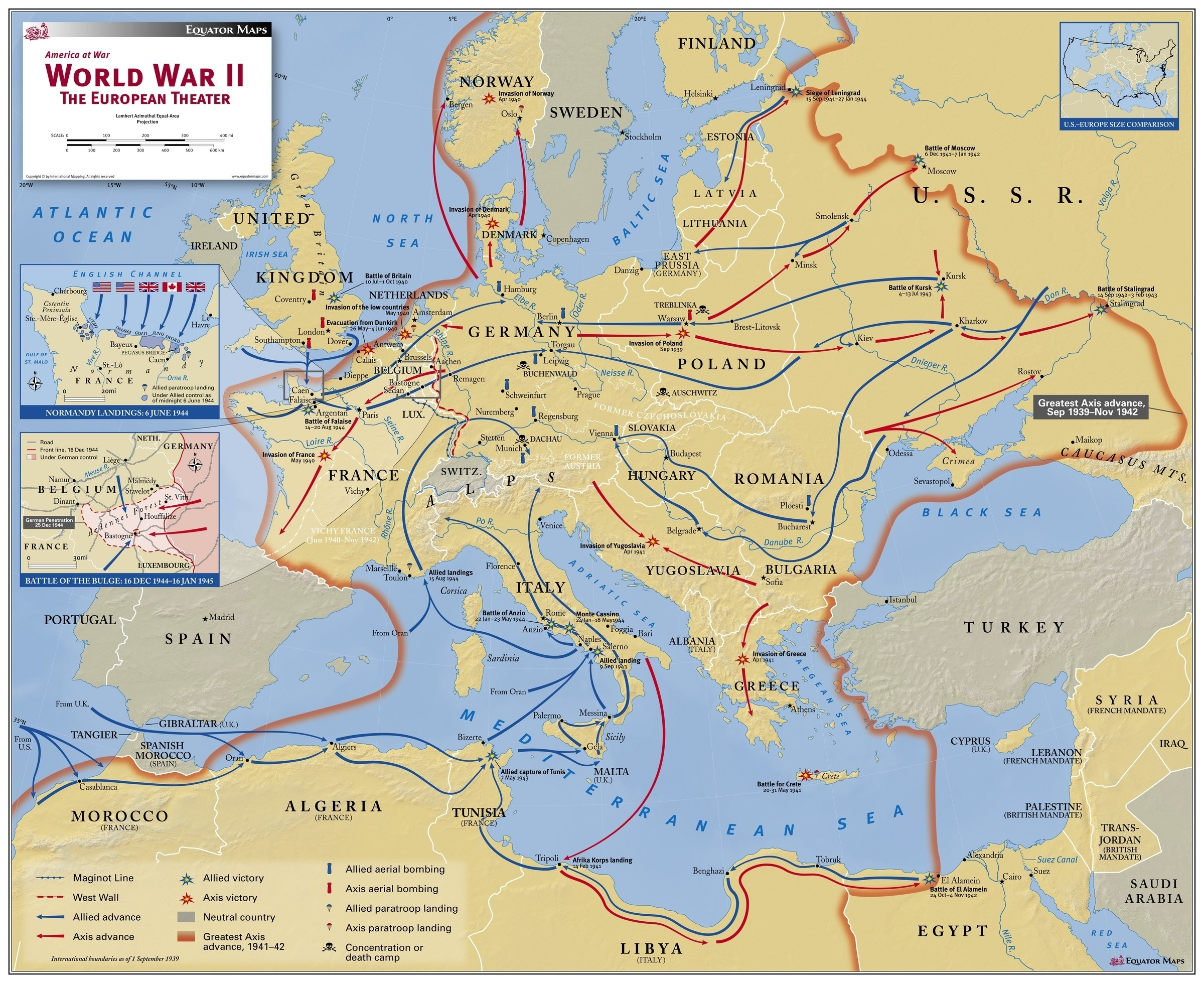 Lesson 2: World War Ii And 20Th Century Europe | Geographical for Germany World War 2 Map