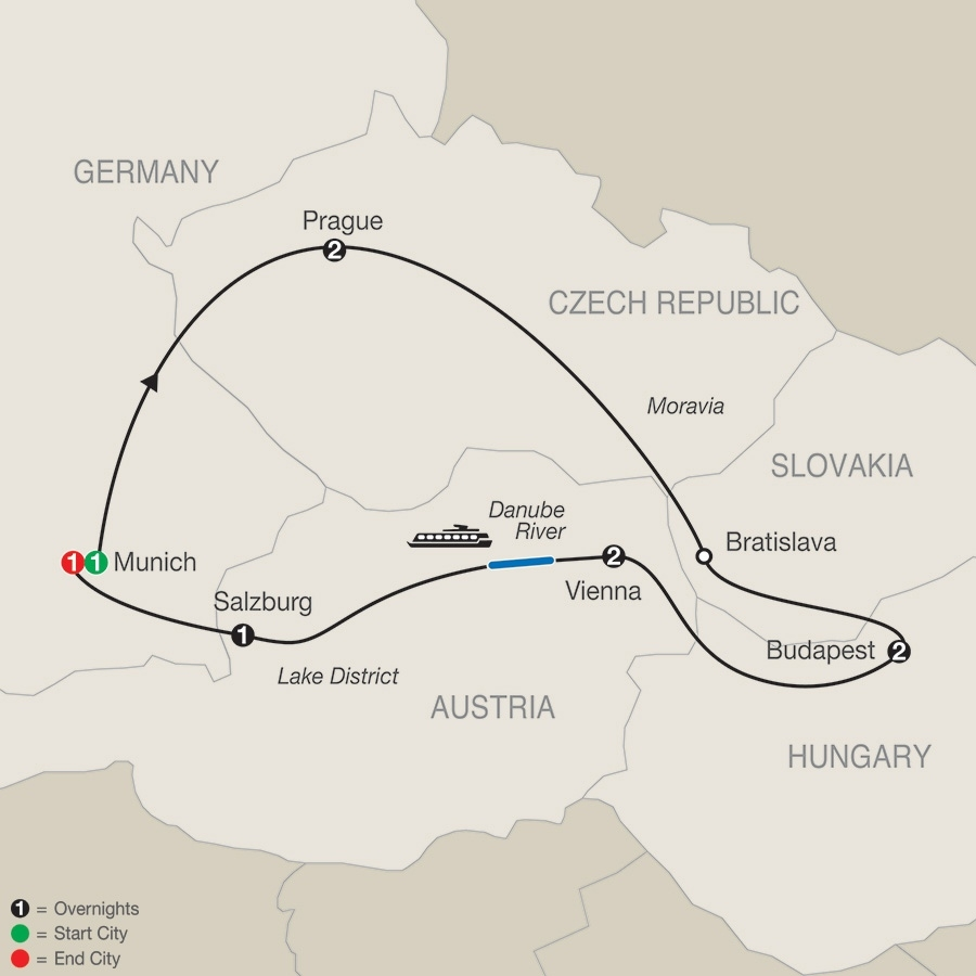 Low Unpublished Prices On Globus - Imperial Splendors 2019 within Map Of Germany Austria Hungary Czech Republic
