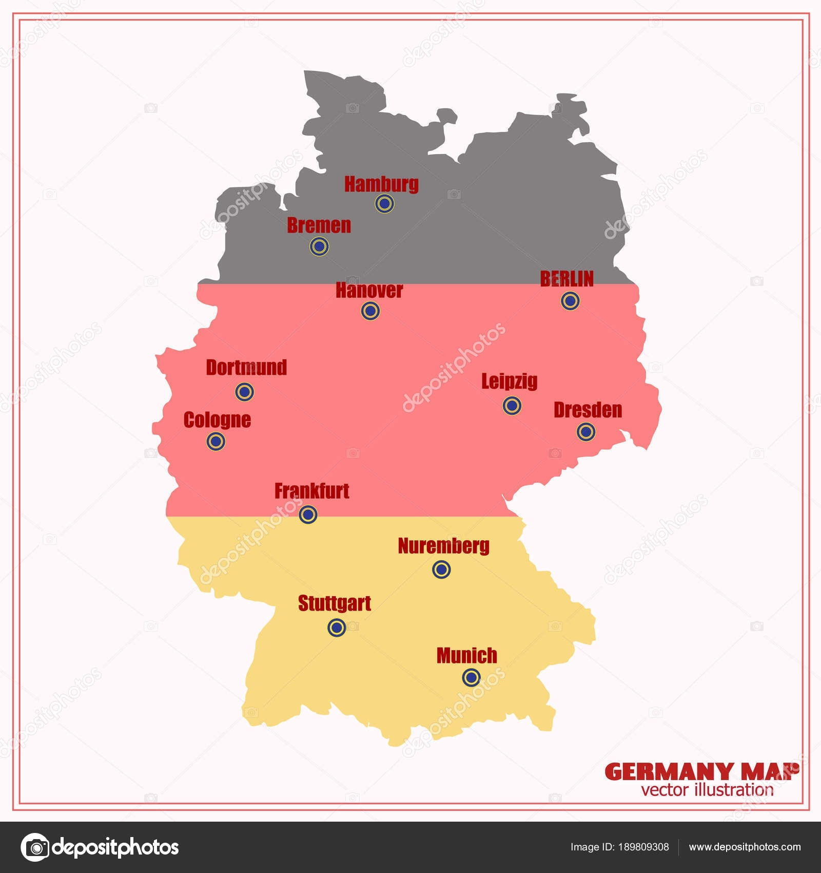 Map And Flag Of Germany. Illustration. — Stock Vector © Innabelavi intended for Germany Map And Flag