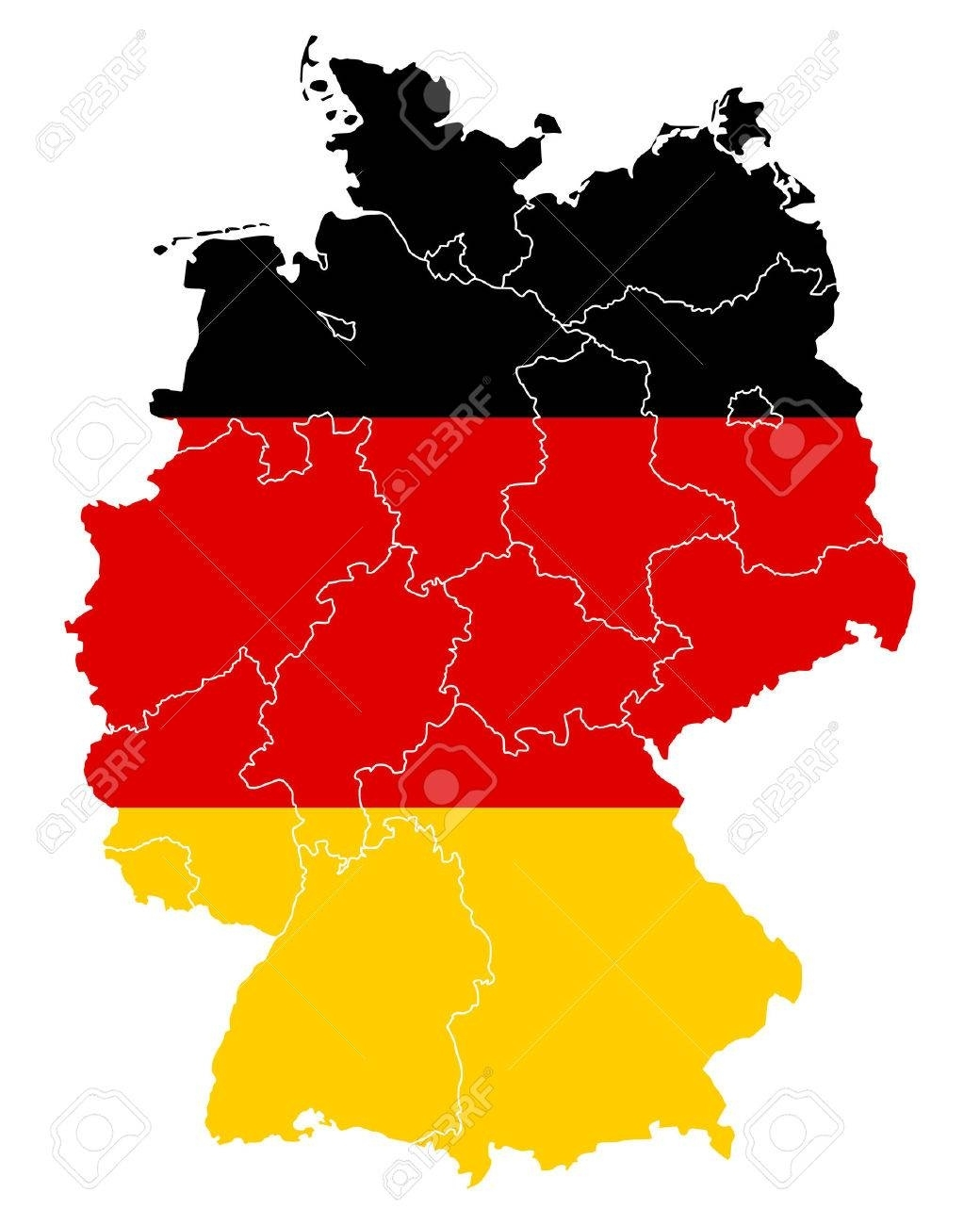 Map And Flag Of Germany inside Germany Map And Flag
