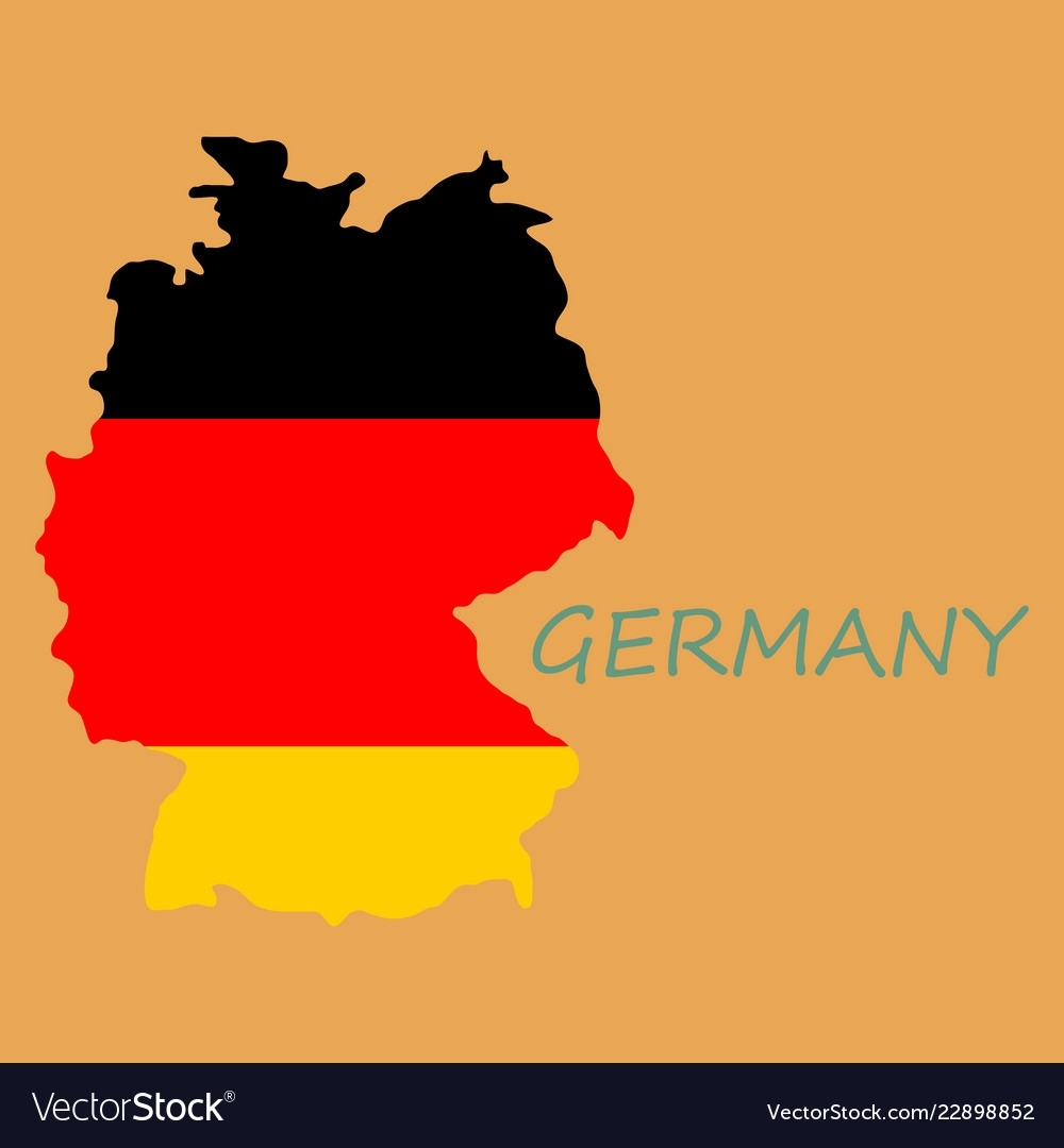 Map And Flag Of Germany Vector Image On Vectorstock in Germany Map And Flag