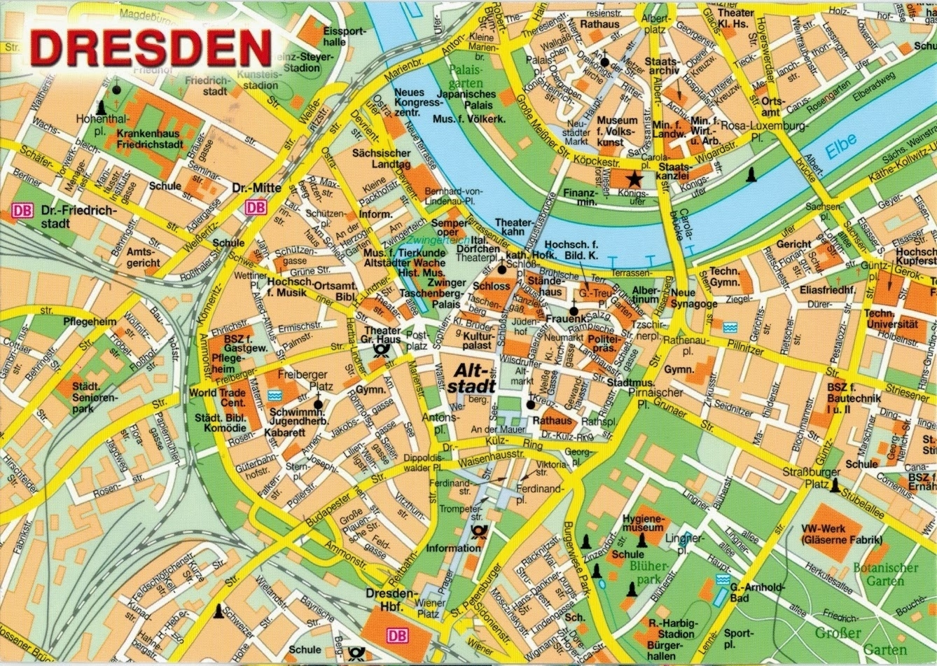 Map Cards - Hunting: 0291 Germany - Dresden inside Dresden Germany Map