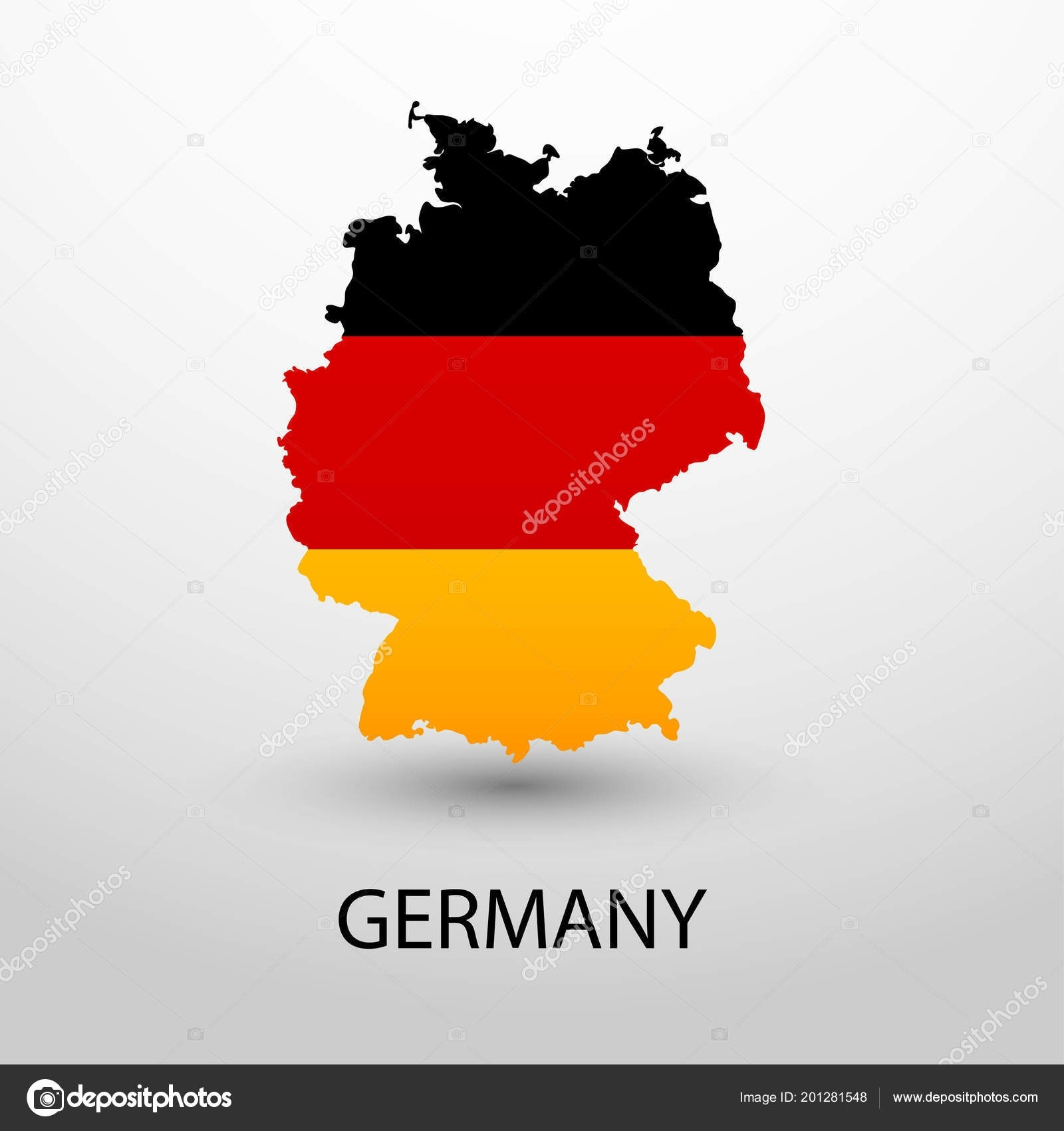 Map Flag Germany National Colors Vector Illustration — Stock Vector within Germany Map And Flag