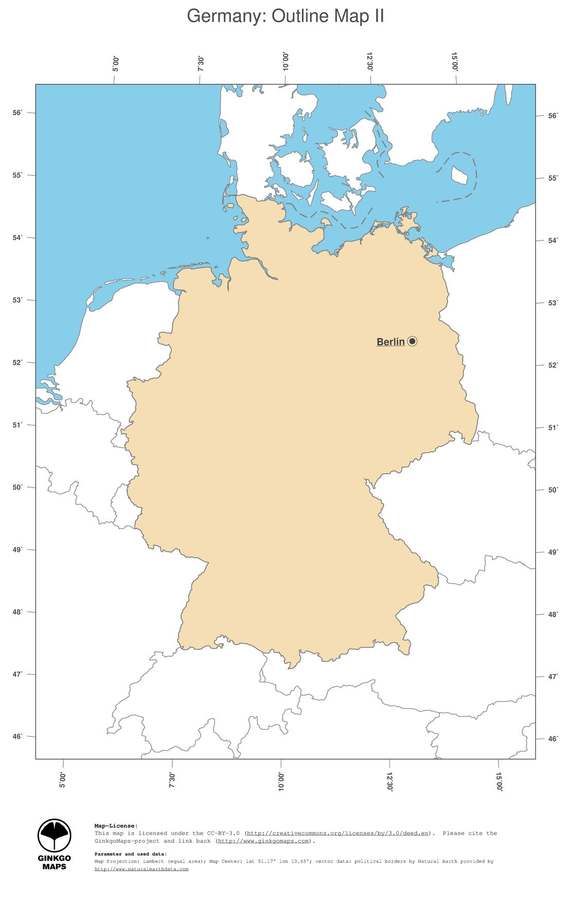 Map Germany; Ginkgomaps Continent: Europe; Region: Germany in Capital Of Germany Map