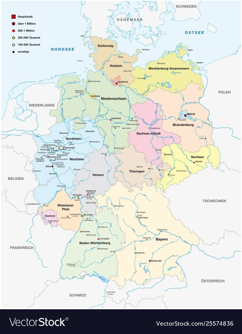 Map Germany In German Language within Map Of Germany In German Language