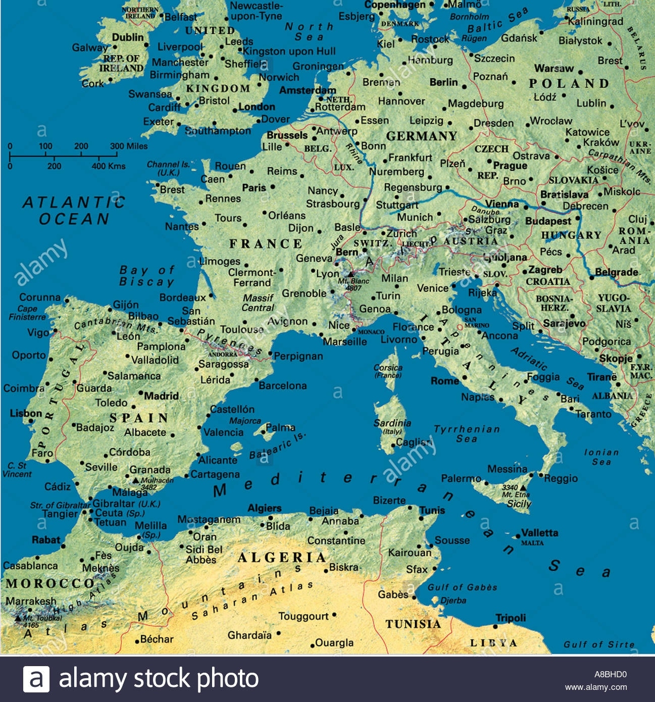 Map Maps Europe Algeria Tunesia North Africa Spain Portugal France intended for Map Of Germany And France