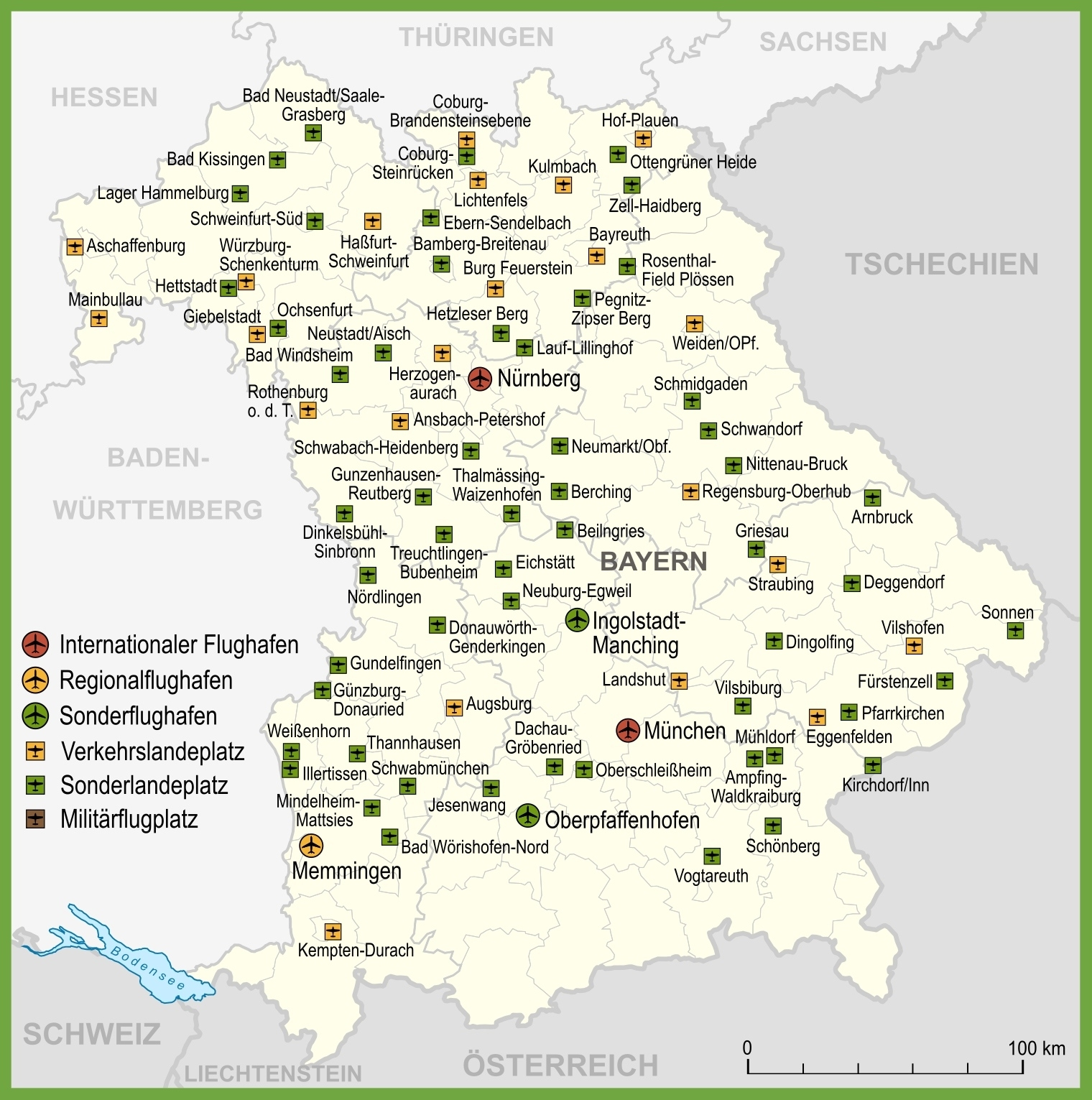 Map Of Airports In Bavaria with regard to Germany Airports Map