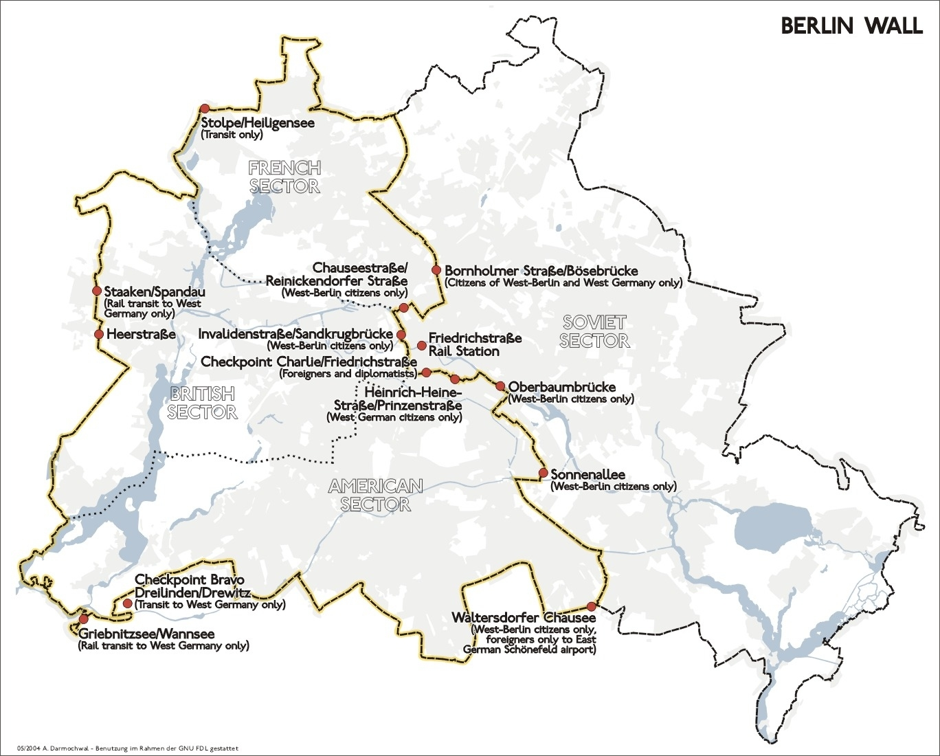 Map Of Berlin Wall Location in Germany Map Before 1989