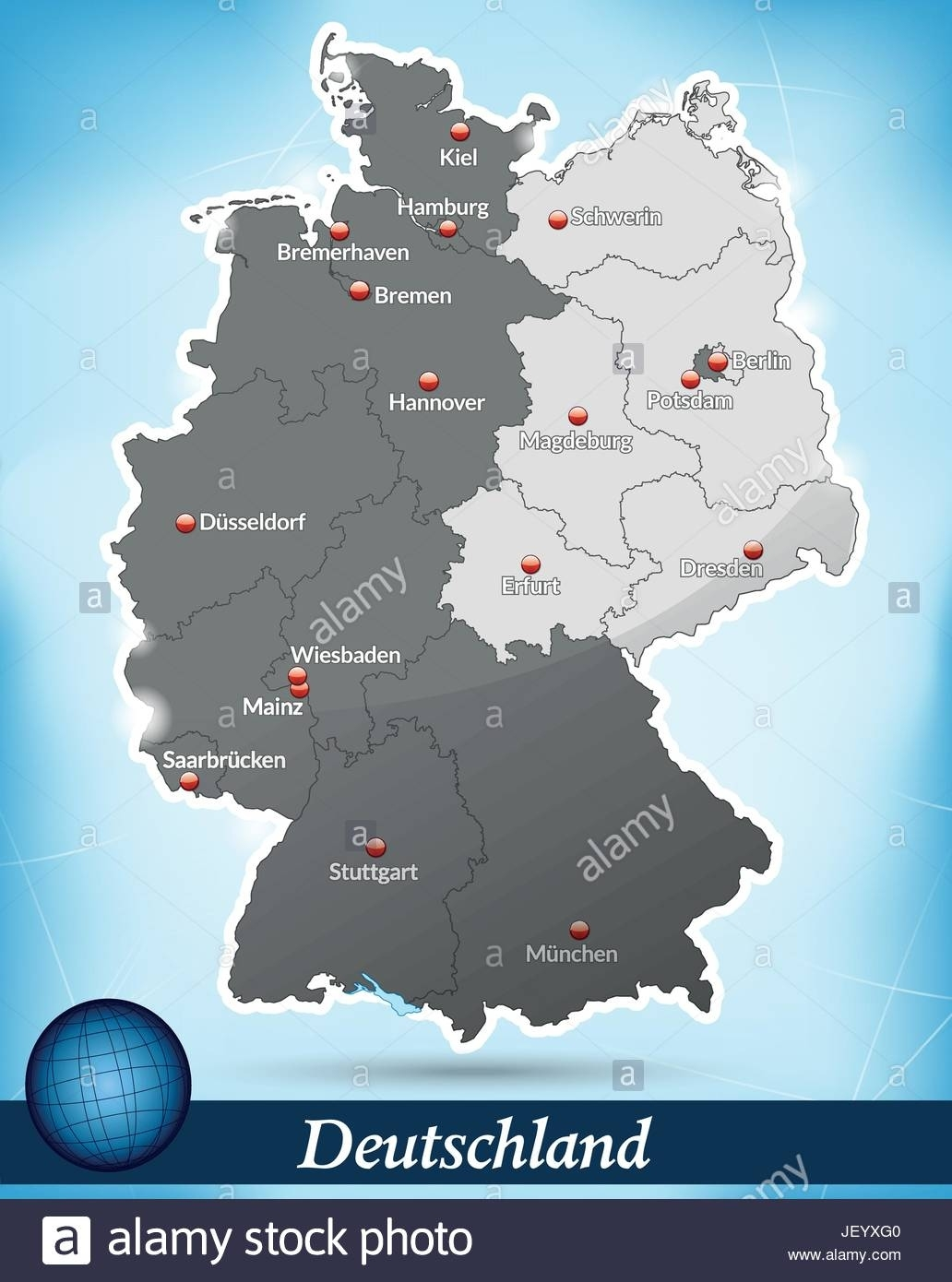 Map Of Divided Germany Stock Vector Art & Illustration, Vector Image within Divided Germany Map