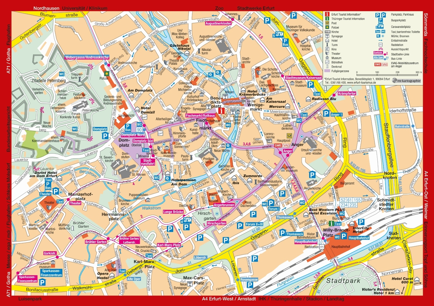 Map Of Erfurt - Location And Travel Information - Erfurt Tourismus with regard to Erfurt Germany Map
