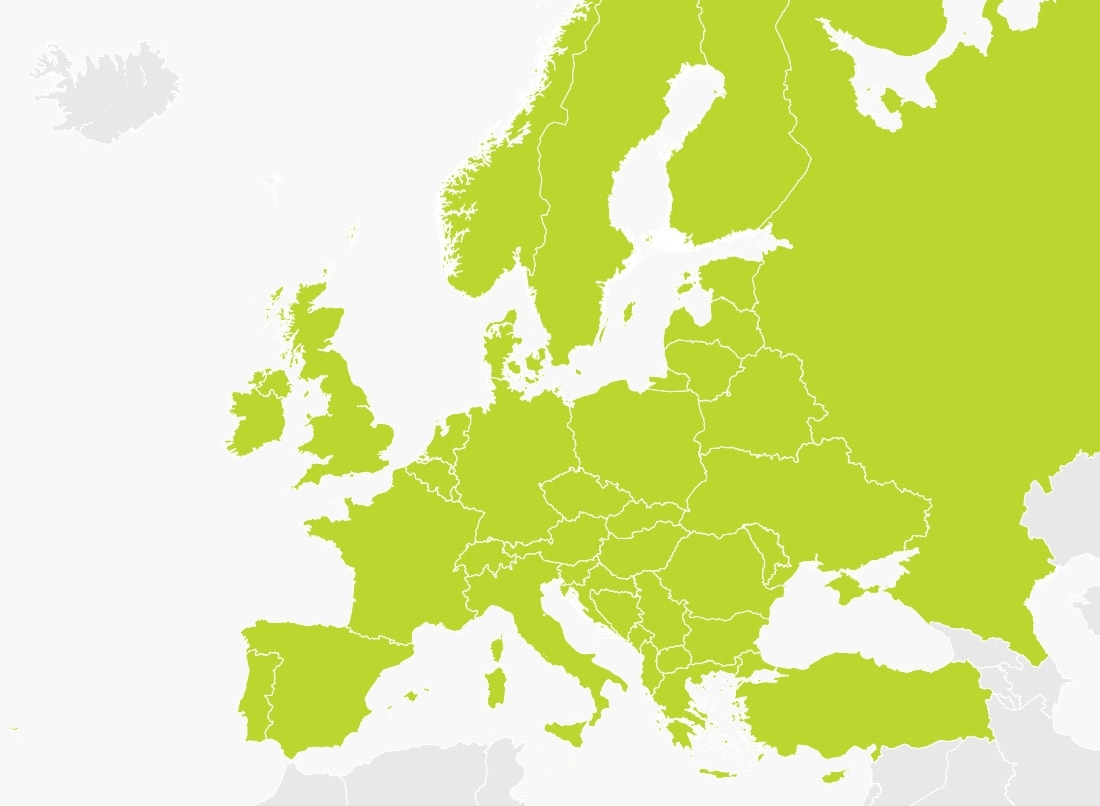 Map Of Europe   Tomtom with Tomtom Germany Map Download