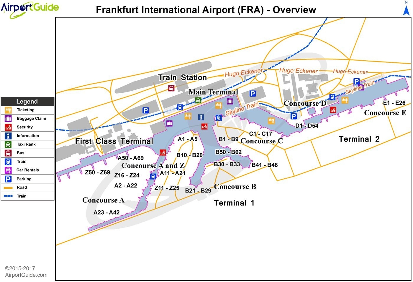 Map Of Frankfurt Airport And Train Station - Frankfurt Airport with regard to Frankfurt Germany Train Station Map