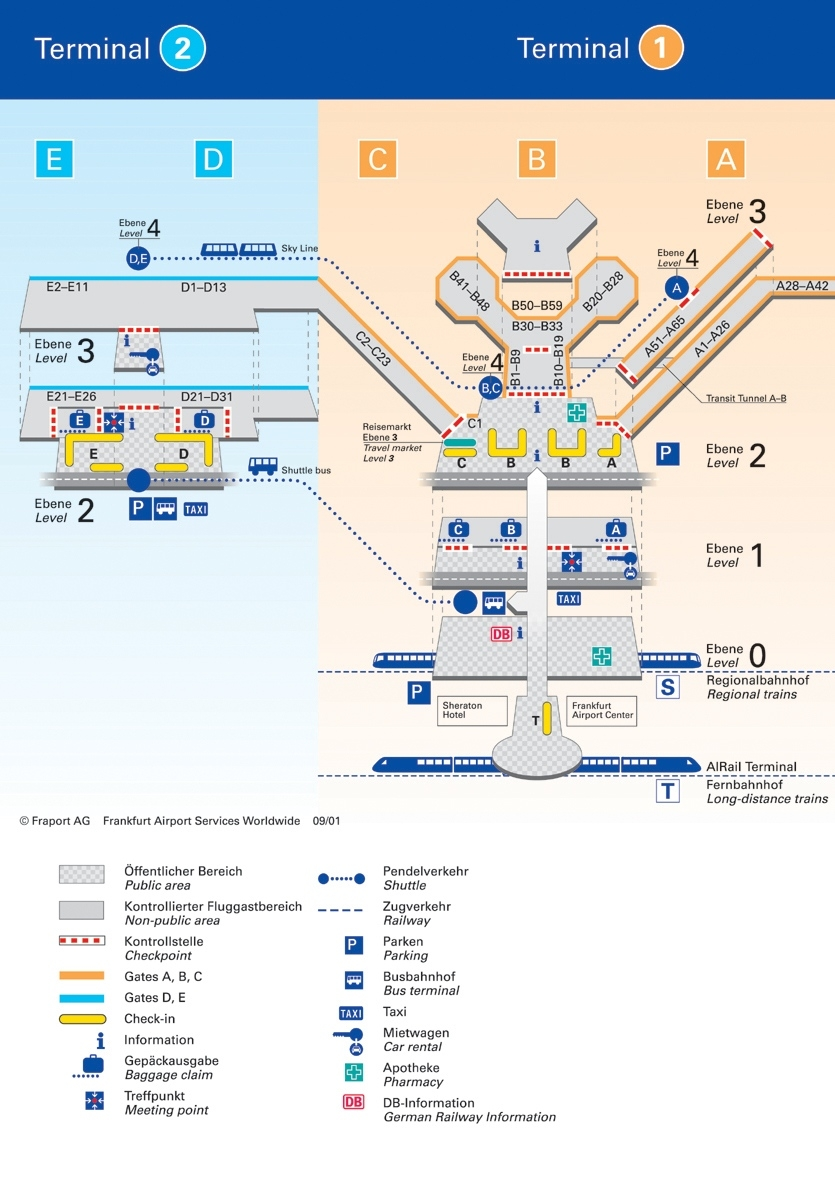 Map Of Frankfurt Airport And Travel Information   Download Free Map inside Frankfurt Airport Map Germany