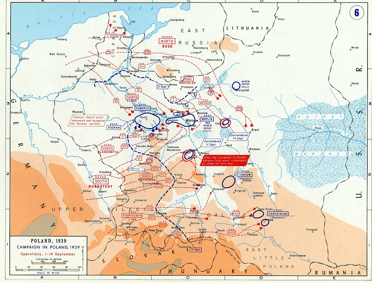 Map Of German Campaign In Poland (September 1939) pertaining to Germany Map 1939