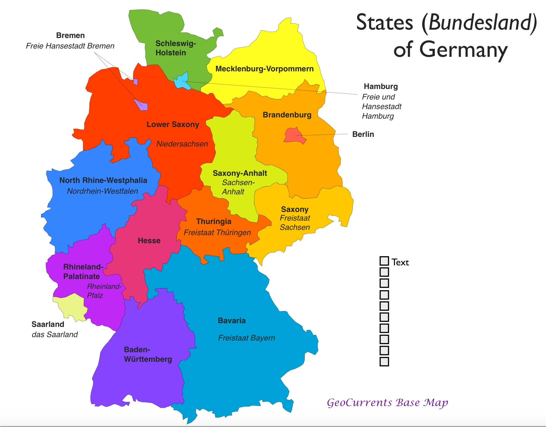 Map Of German Provinces And Travel Information | Download Free Map inside Map Of Germany With States And Capitals In German