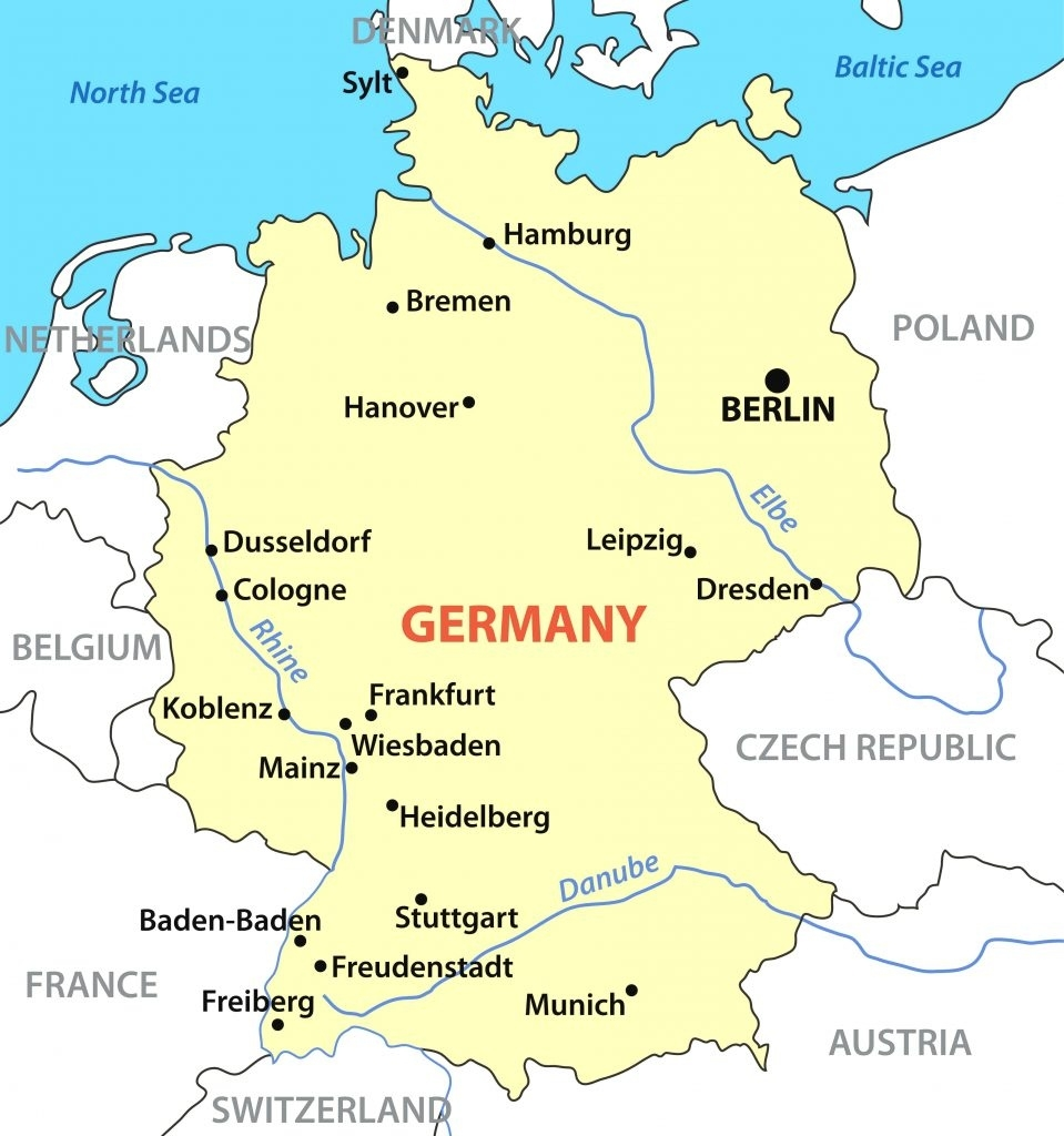 Map Of Germany And Surrounding Countries (98+ Images In Collection for Map Of Germany And Surrounding Countries