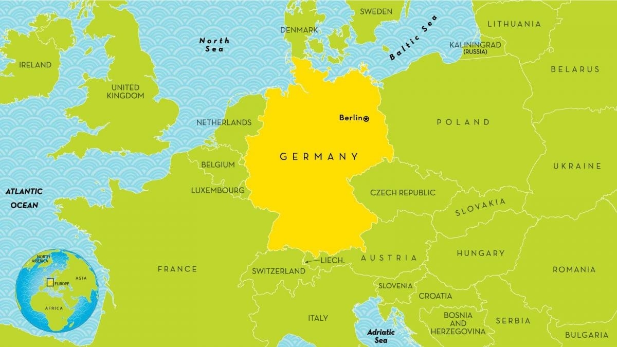 Map Of Germany And Surrounding Countries - Germany And Surrounding throughout Map Of Germany And Surrounding Countries