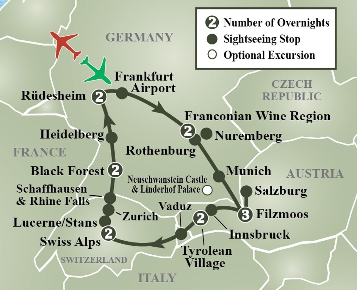 Map Of Germany Austria Czech Republic And Travel Information intended for Map Of Germany Austria And Prague