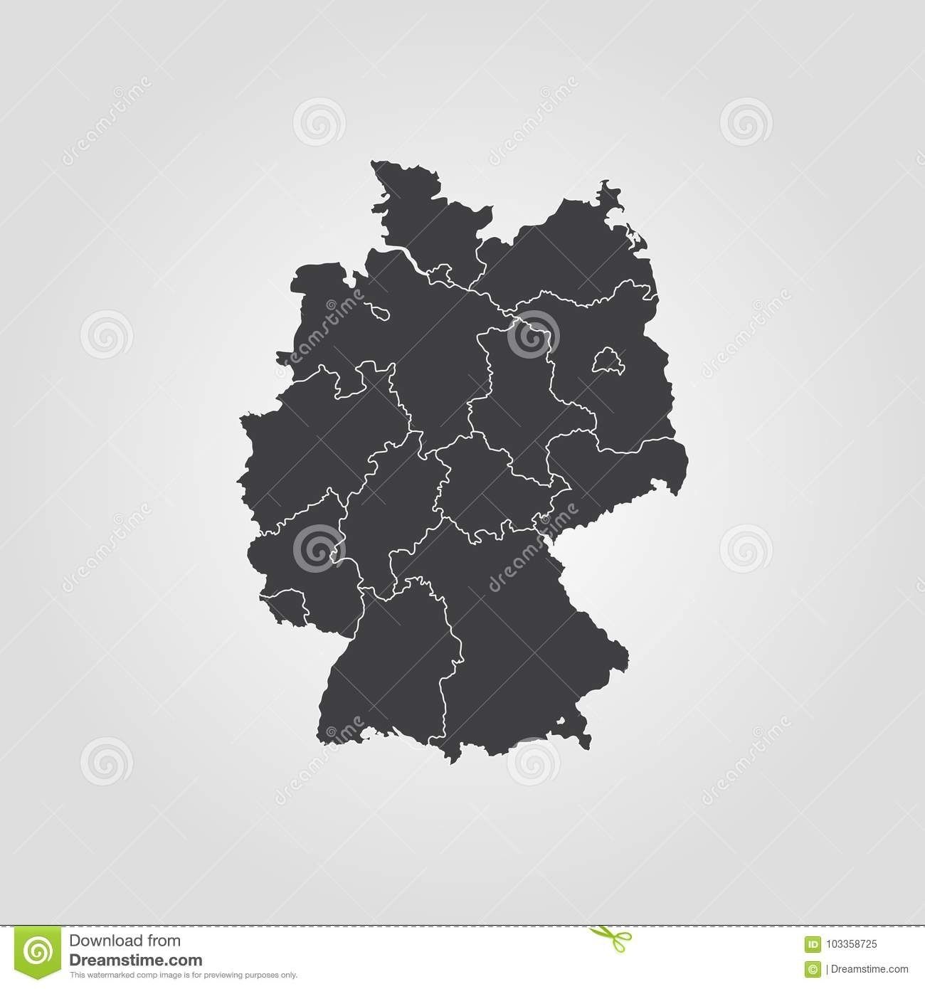 Map Of Germany Stock Illustration. Illustration Of European - 103358725 with regard to Germany Map Download Free