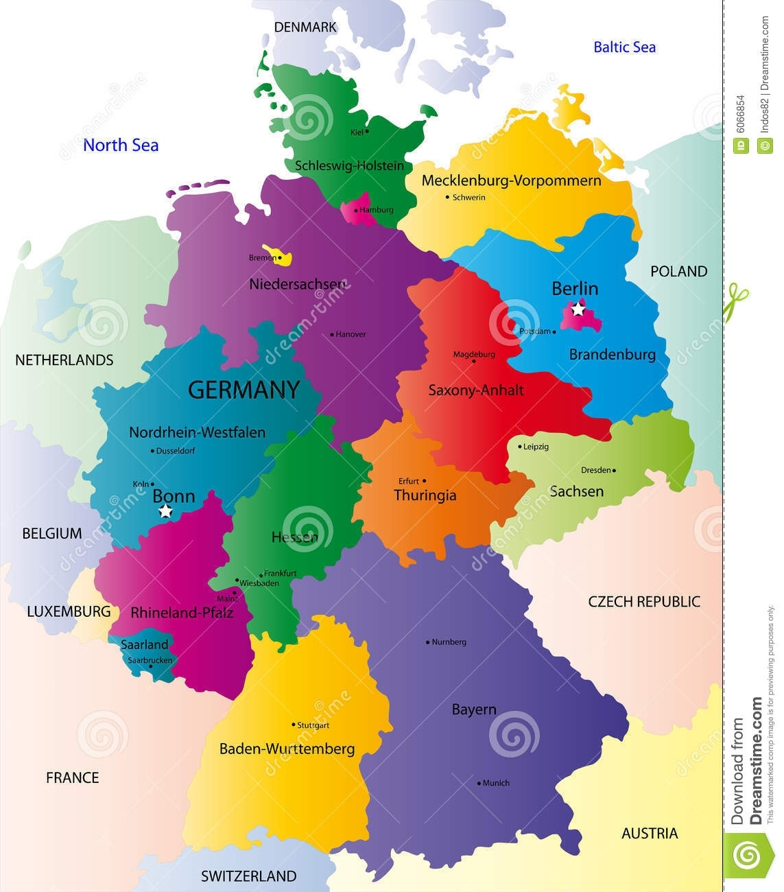 Map Of Germany Stock Vector. Illustration Of Illustration - 6066854 throughout Map Of Germany And Surrounding Countries